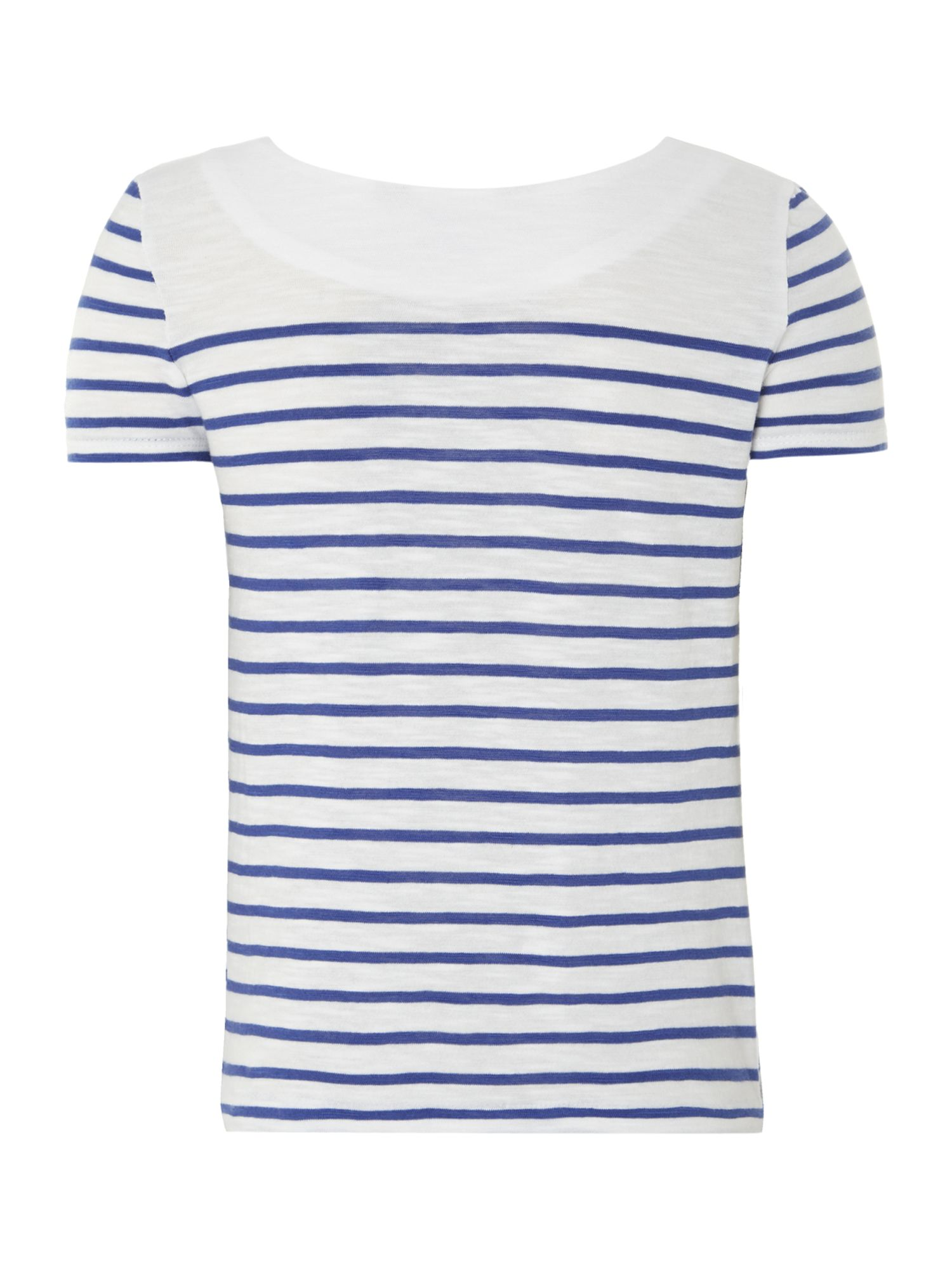 Girl`s nautical stripe t-shirt
