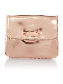 Gold small mirrored chain acrossbody bag