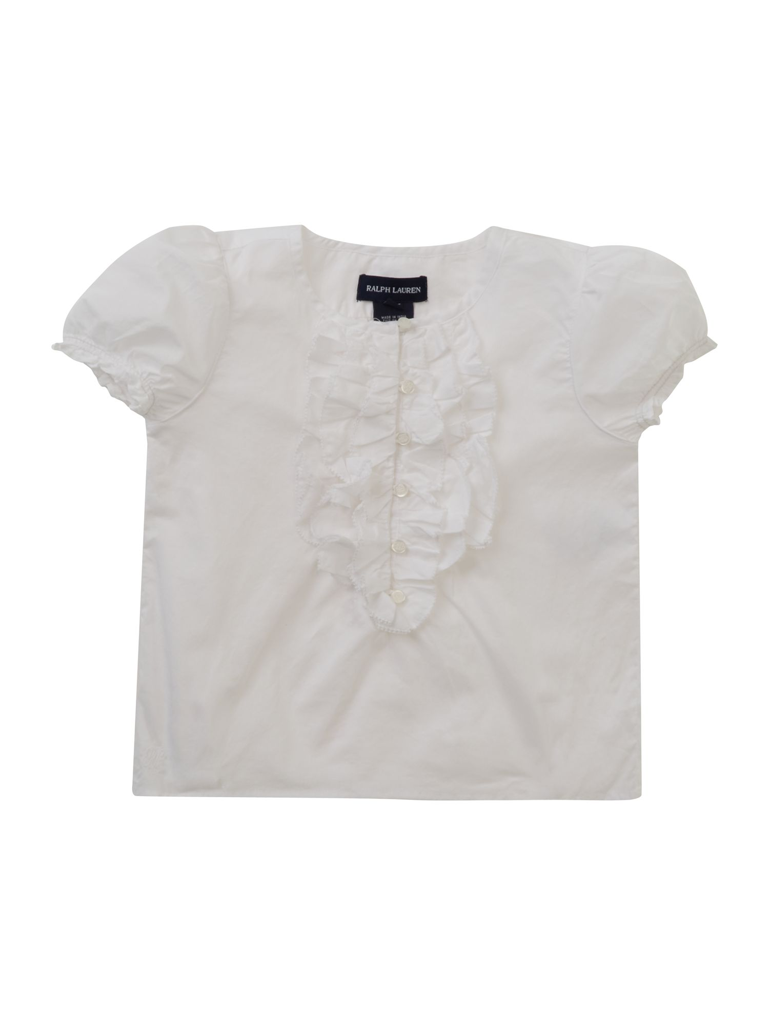 Girl`s frill placket shirt