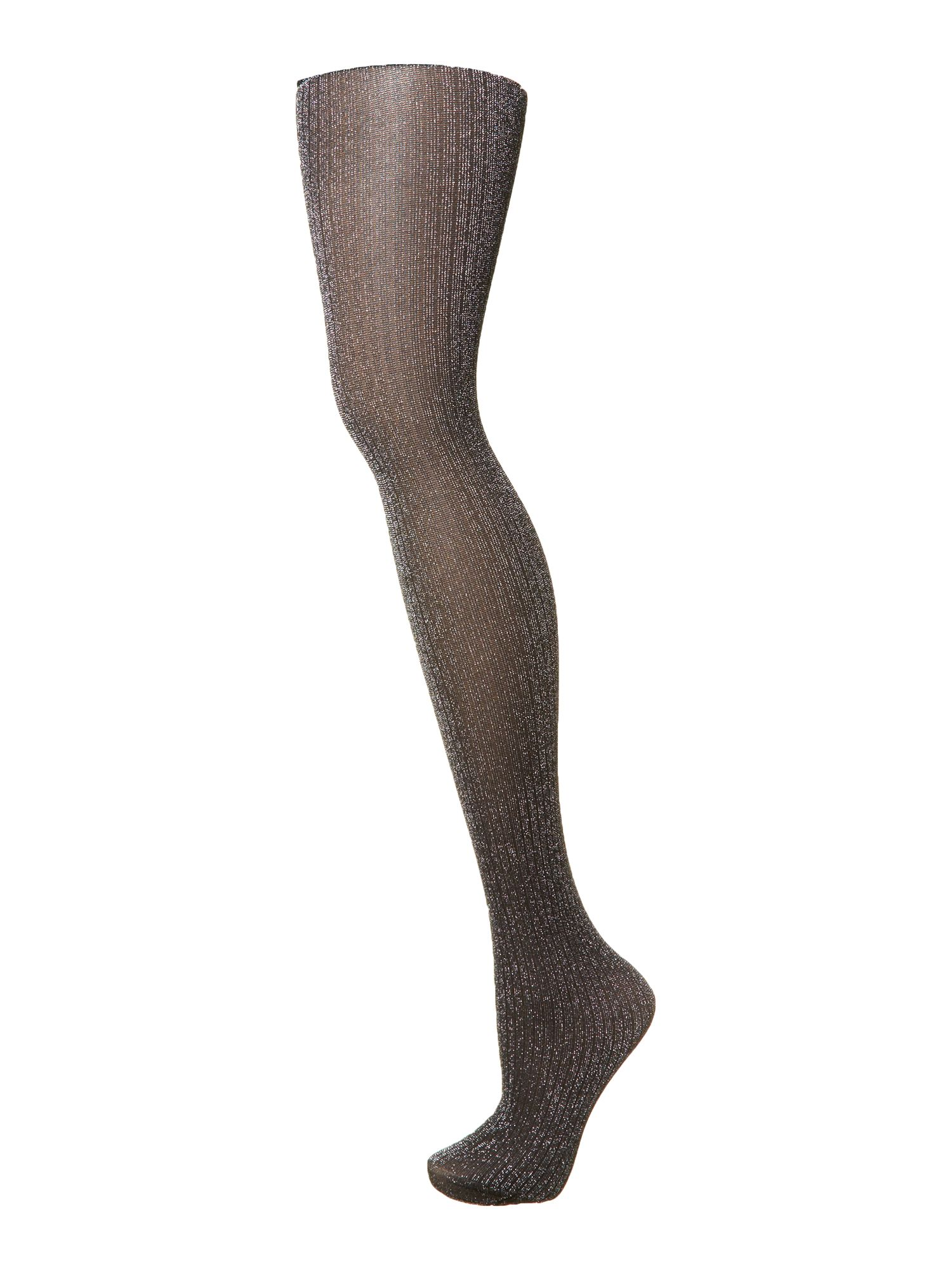 Lurex rib tights