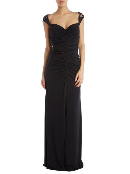 JS Collections Sweatheart split front gown