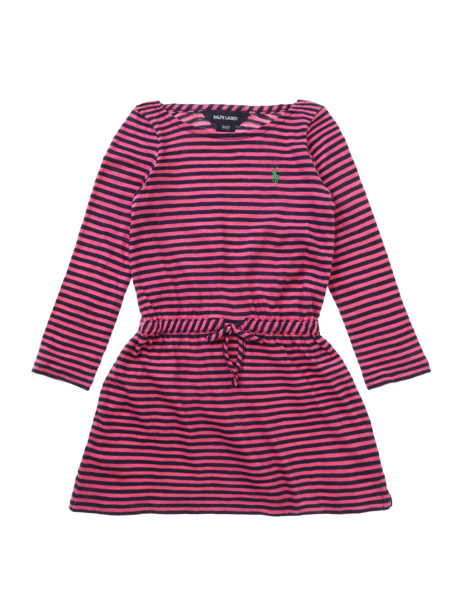Girl`s striped t-shirt dress
