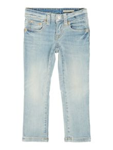 Girl`s light wash jeans