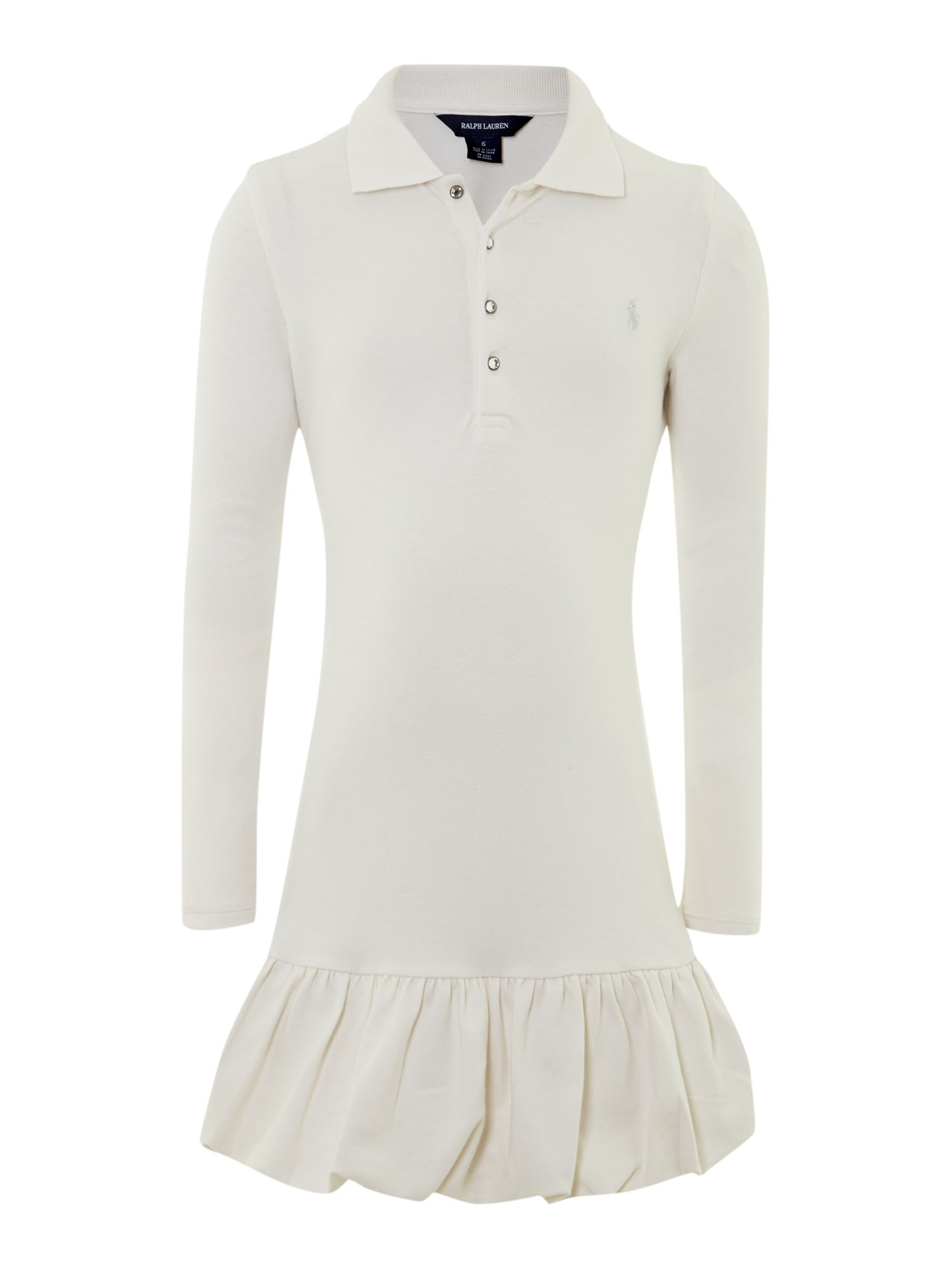 Girl`s bubble polo dress
