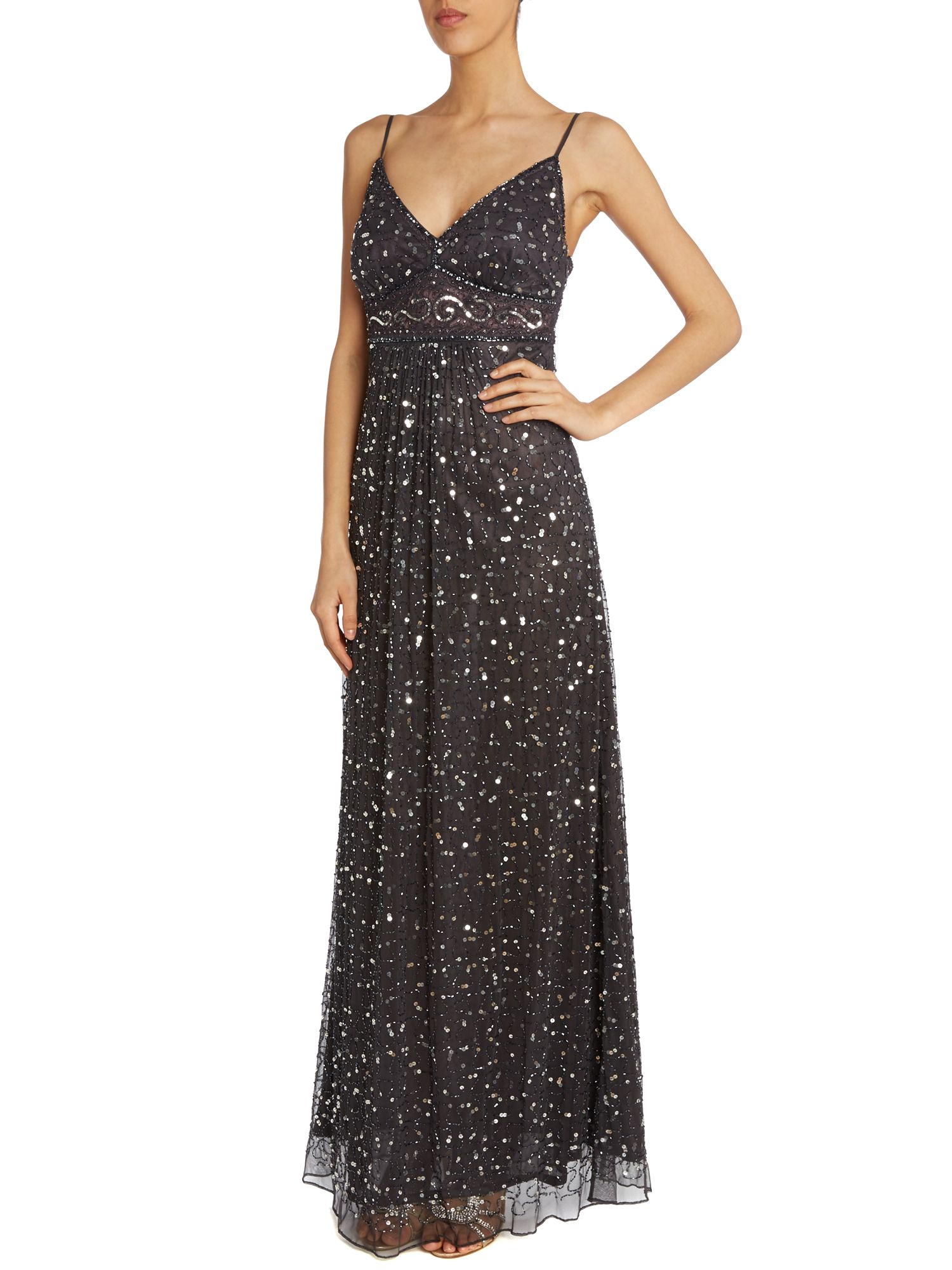 Strappy Beaded Gown