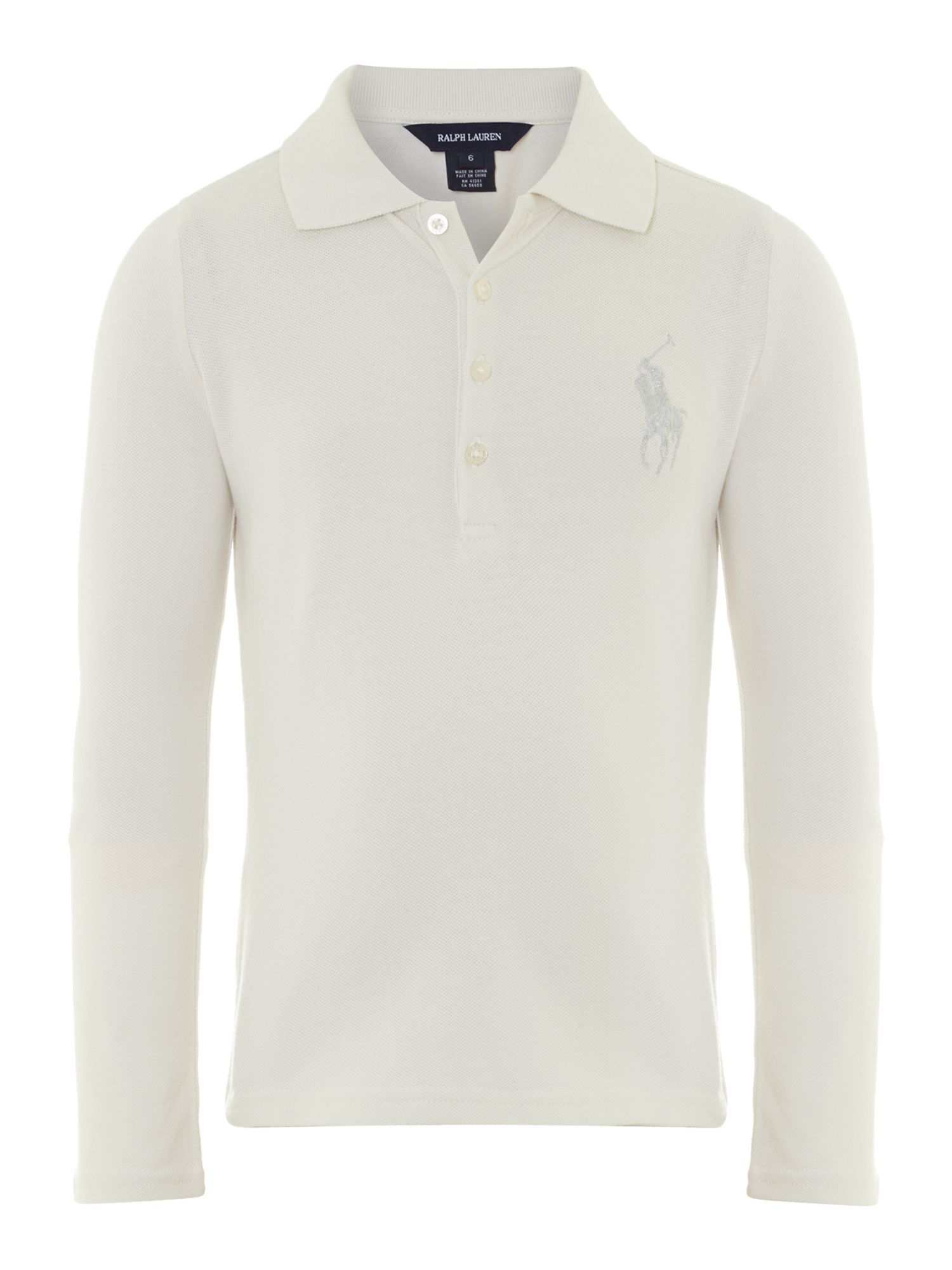 Girl`s foil polo shirt