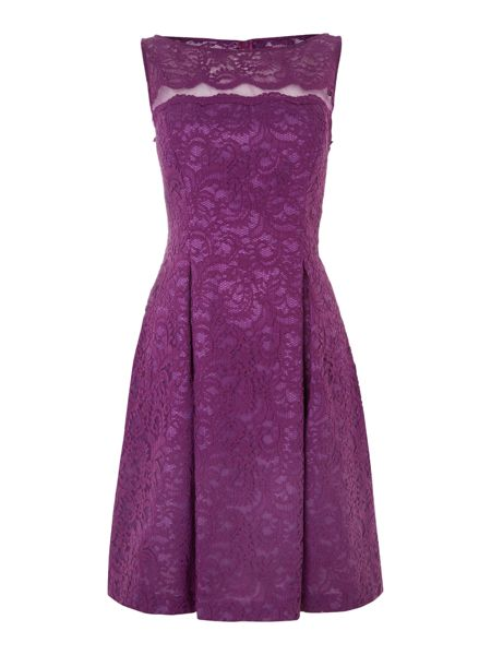 JS Collections Illusion lace prom dress