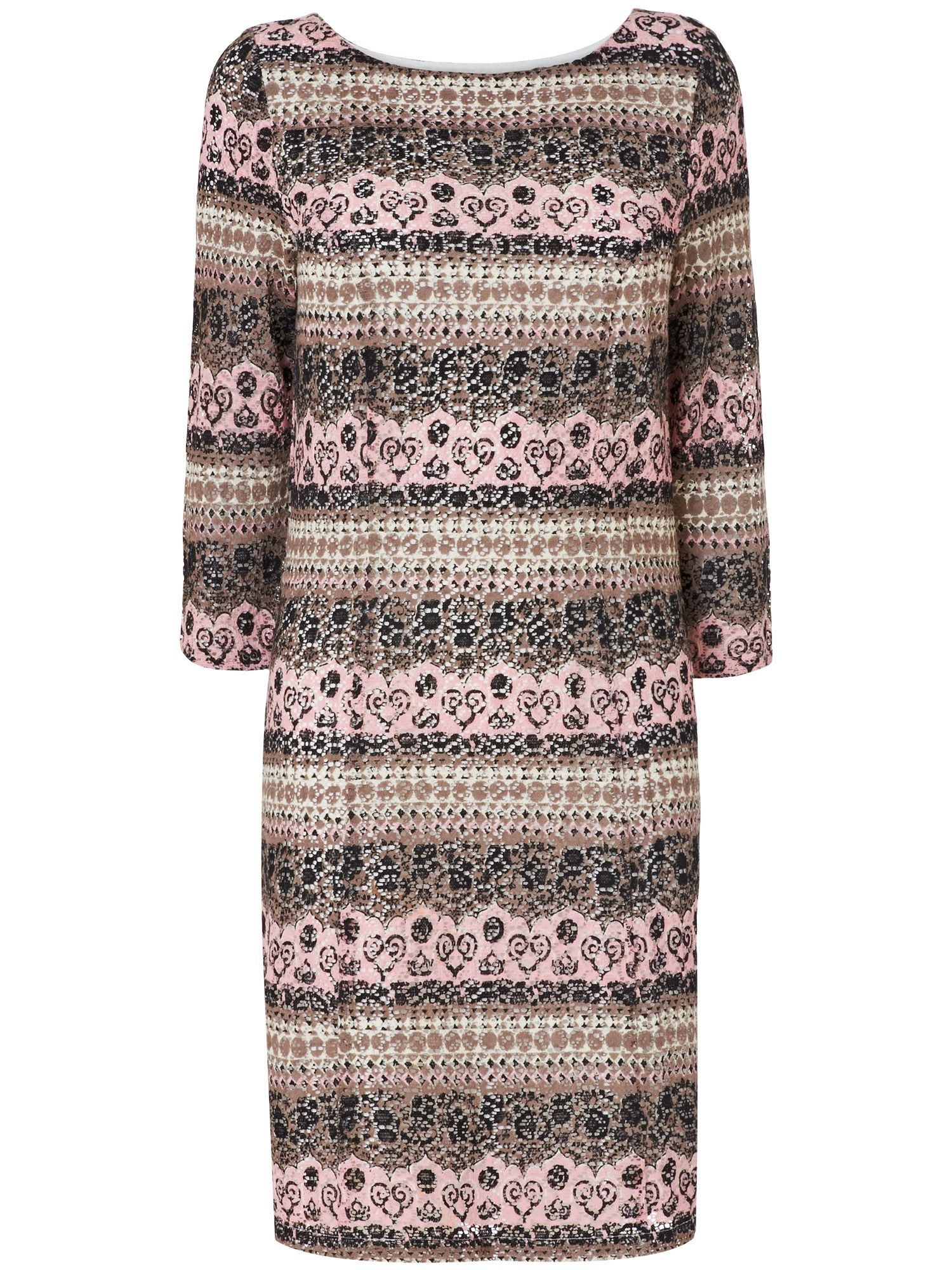Zadie lace print dress
