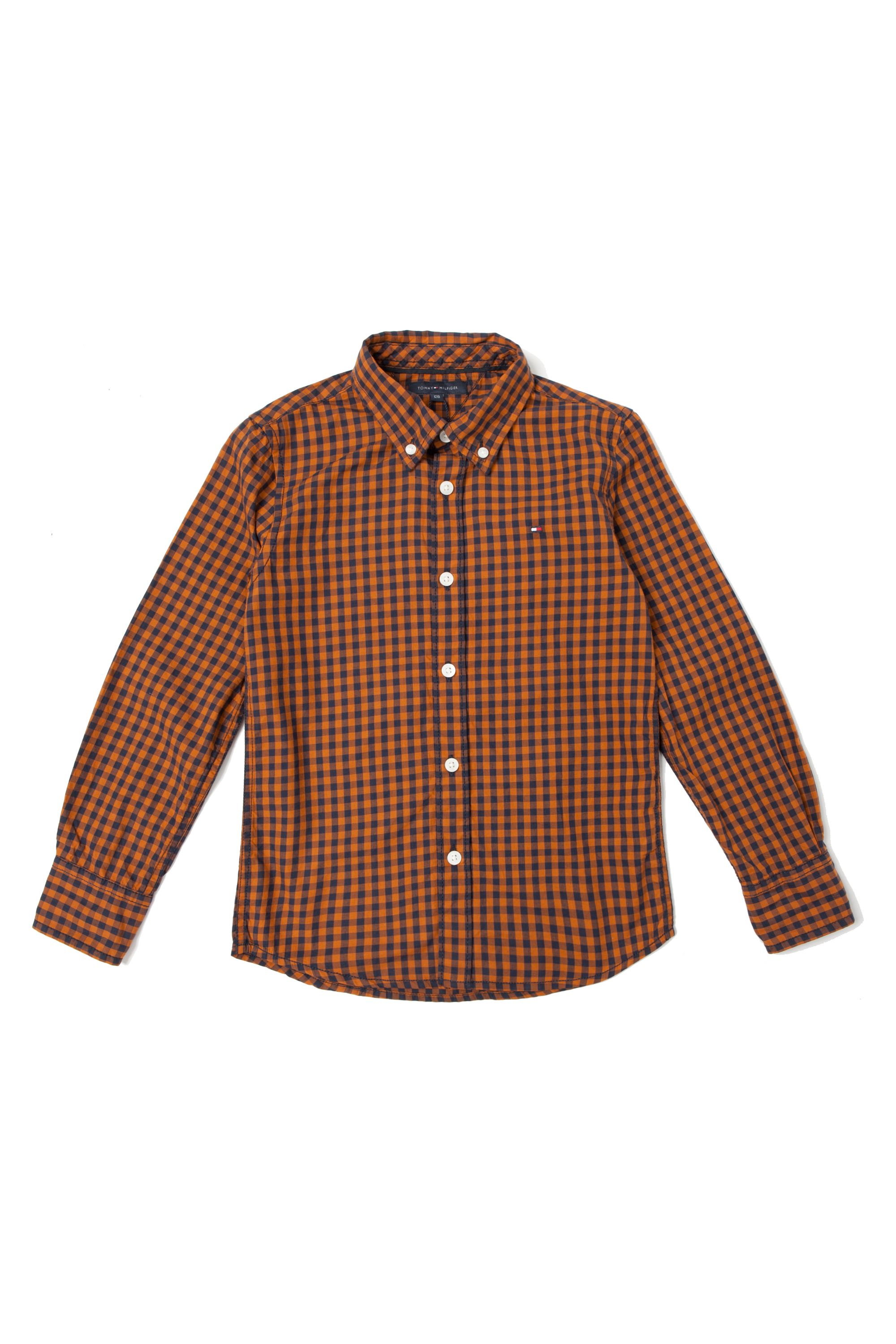 Boy`s gingham long sleeve shirt