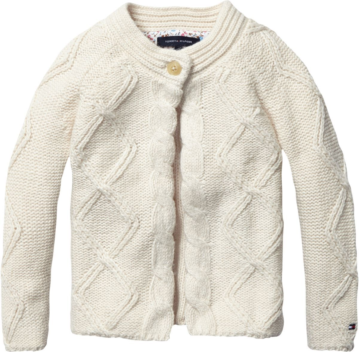 Girl`s cable knit cardigan