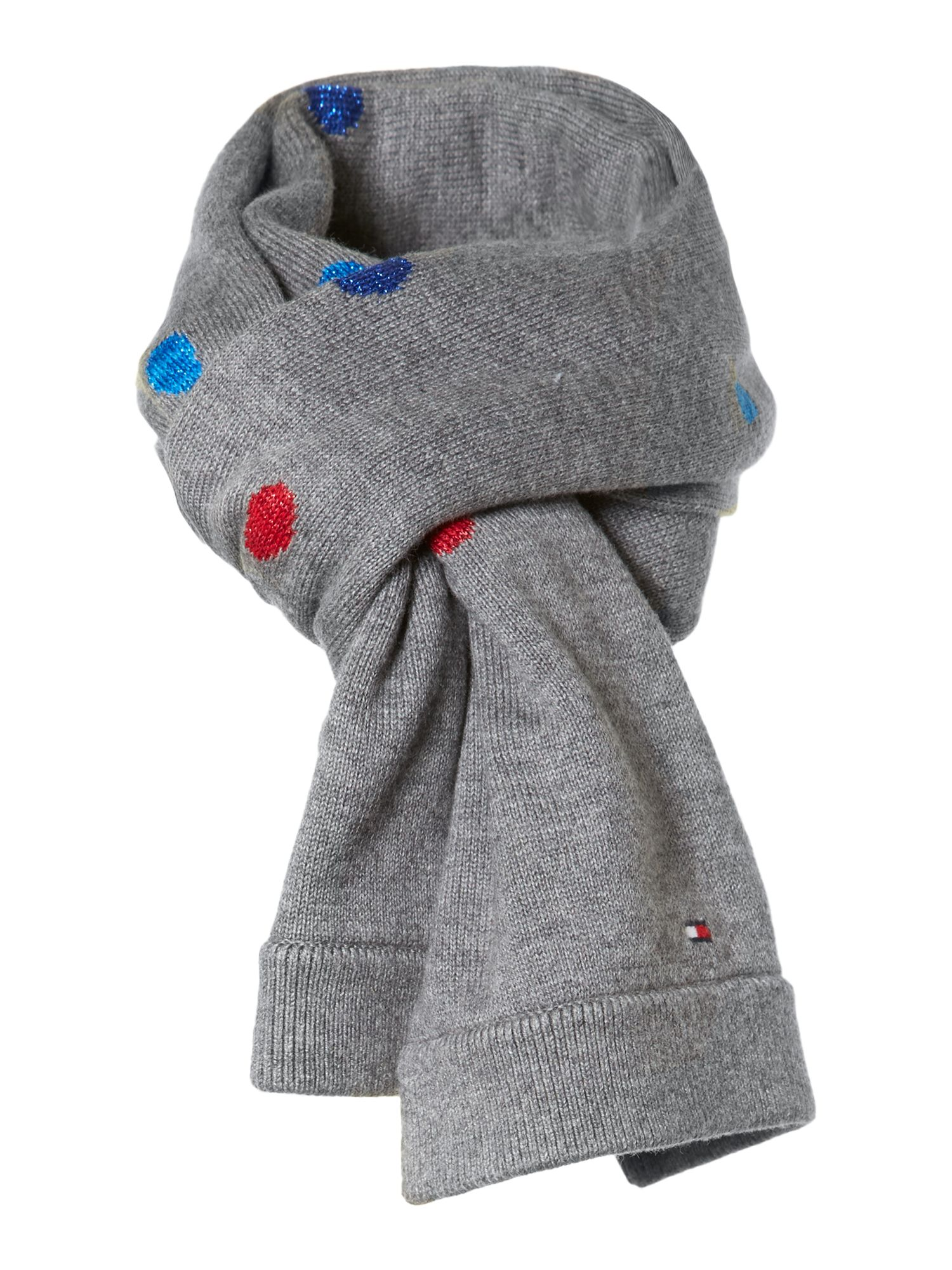 Girl`s dotted scarf
