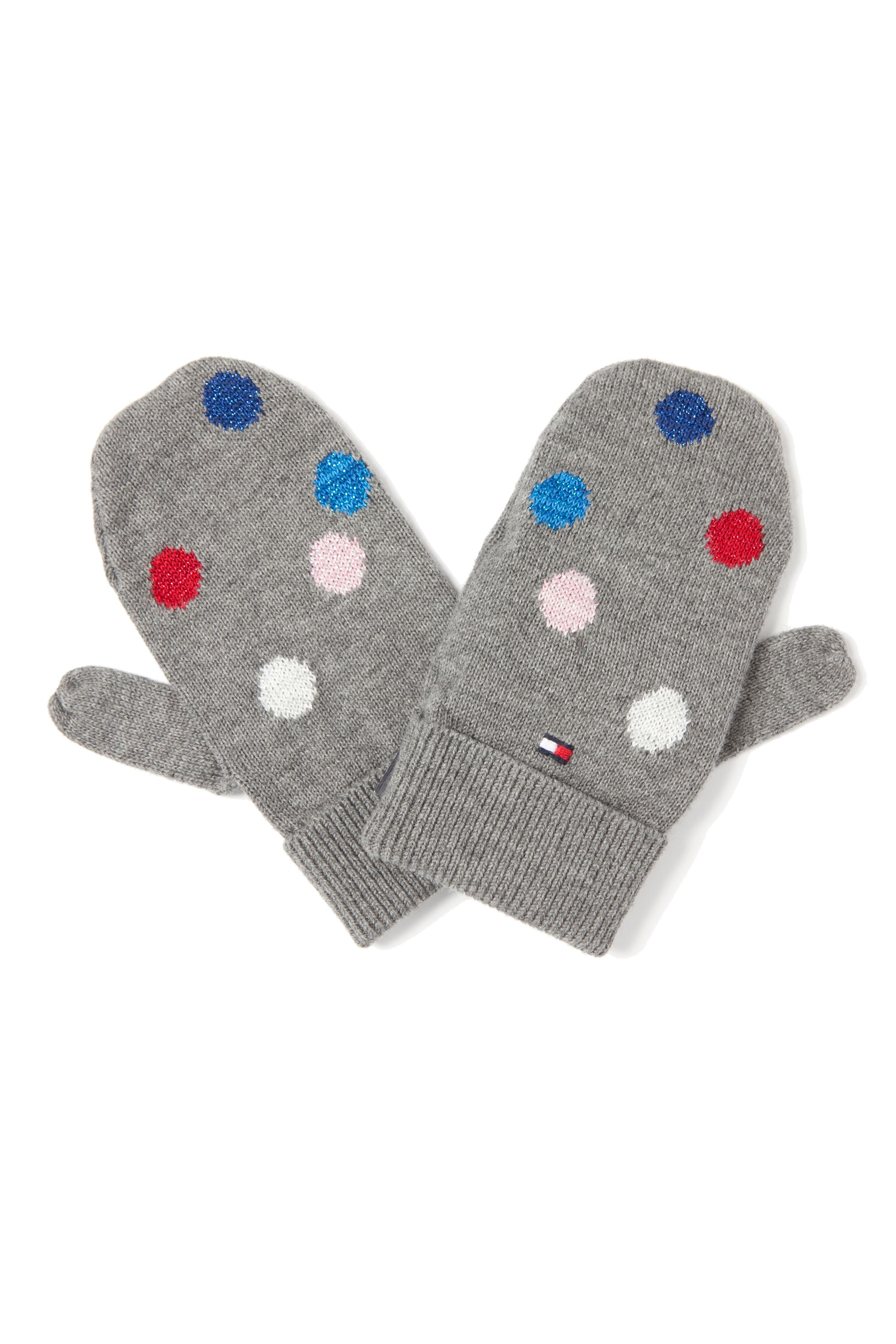 Girl`s dotted mittens