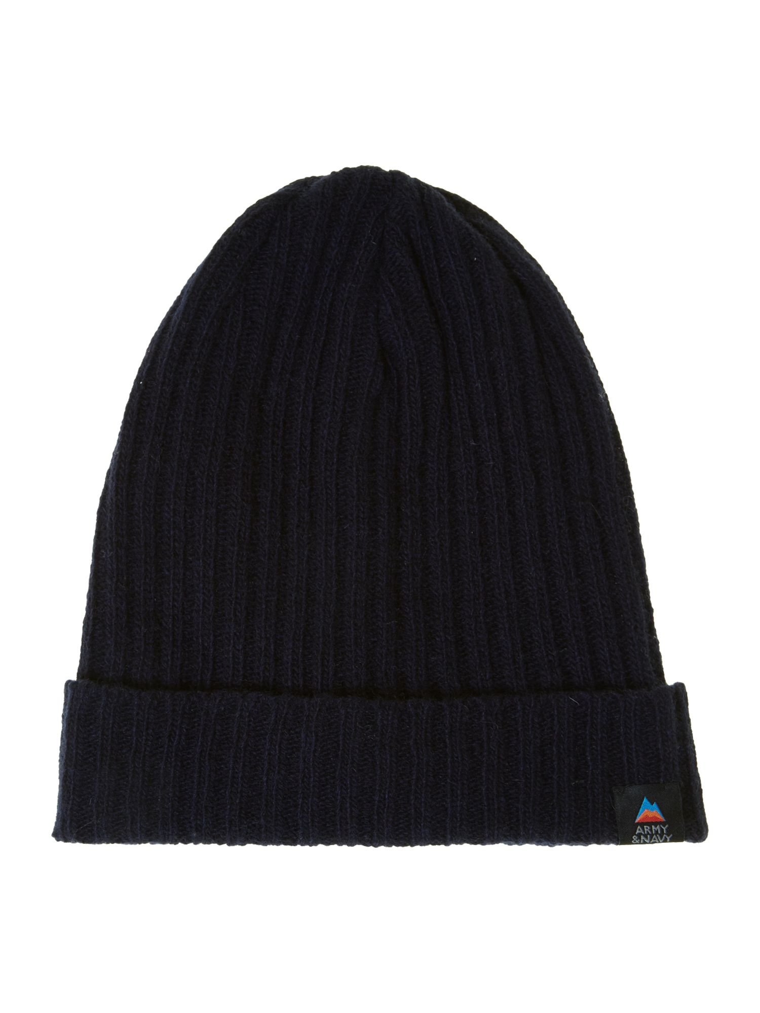 Ribbed lambswool beanie