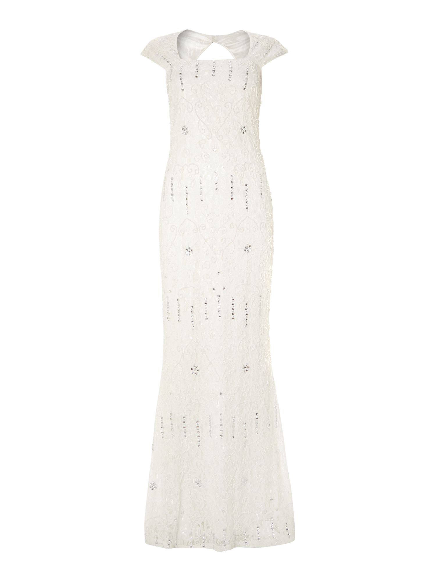 Shubette All Over Beaded Gown, White