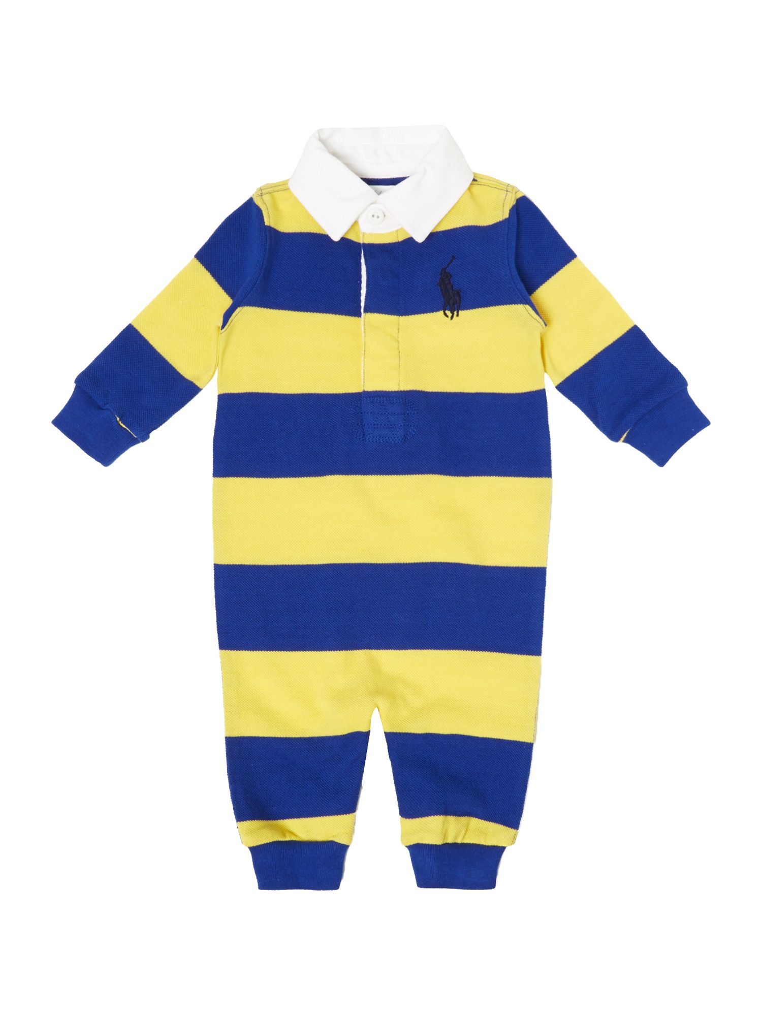 Boy`s stripe polo all-in-one