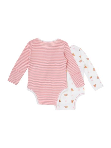 Polo Ralph Lauren Girl`s Teddy And Stripe Two Pack Bodysuit