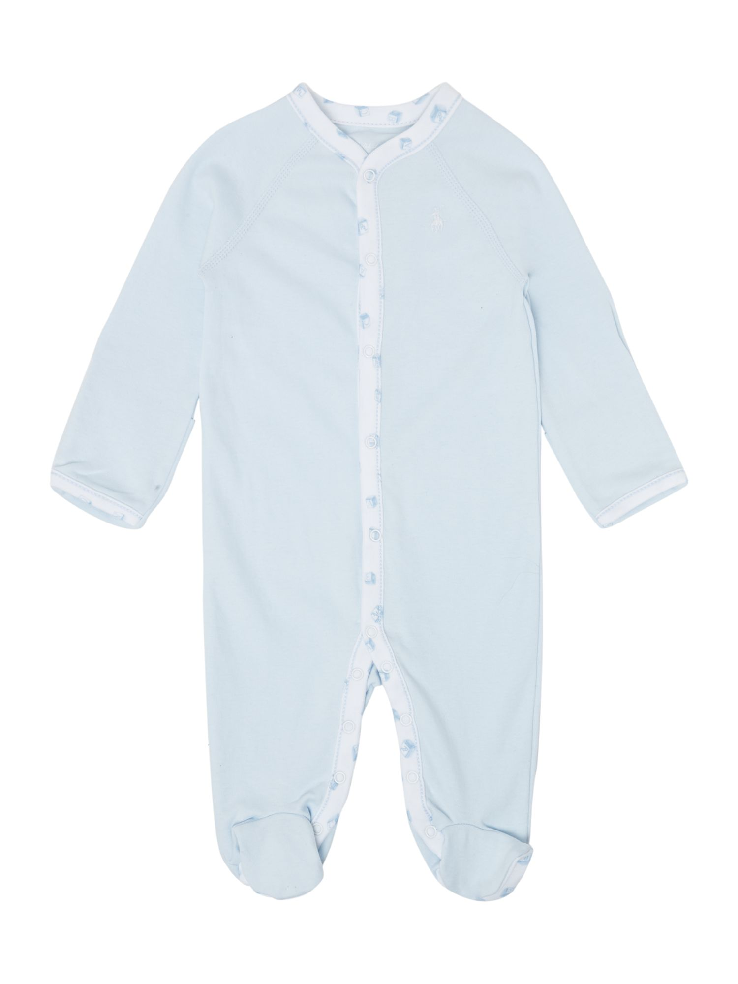 Boy`s printed placket all-in-one