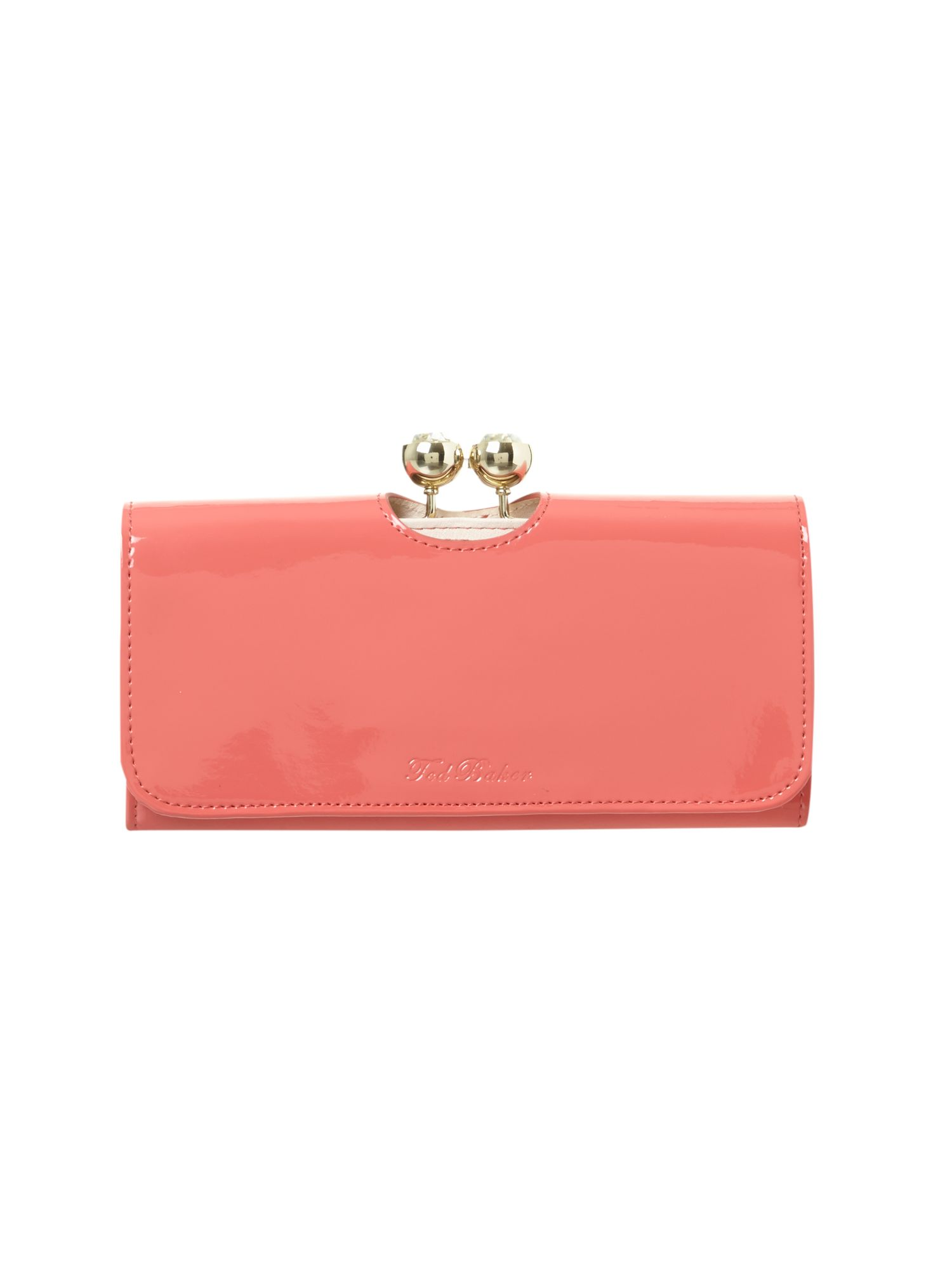 Crystal coral continental flap over