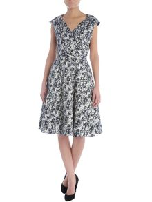 Suzie floral v neck dress