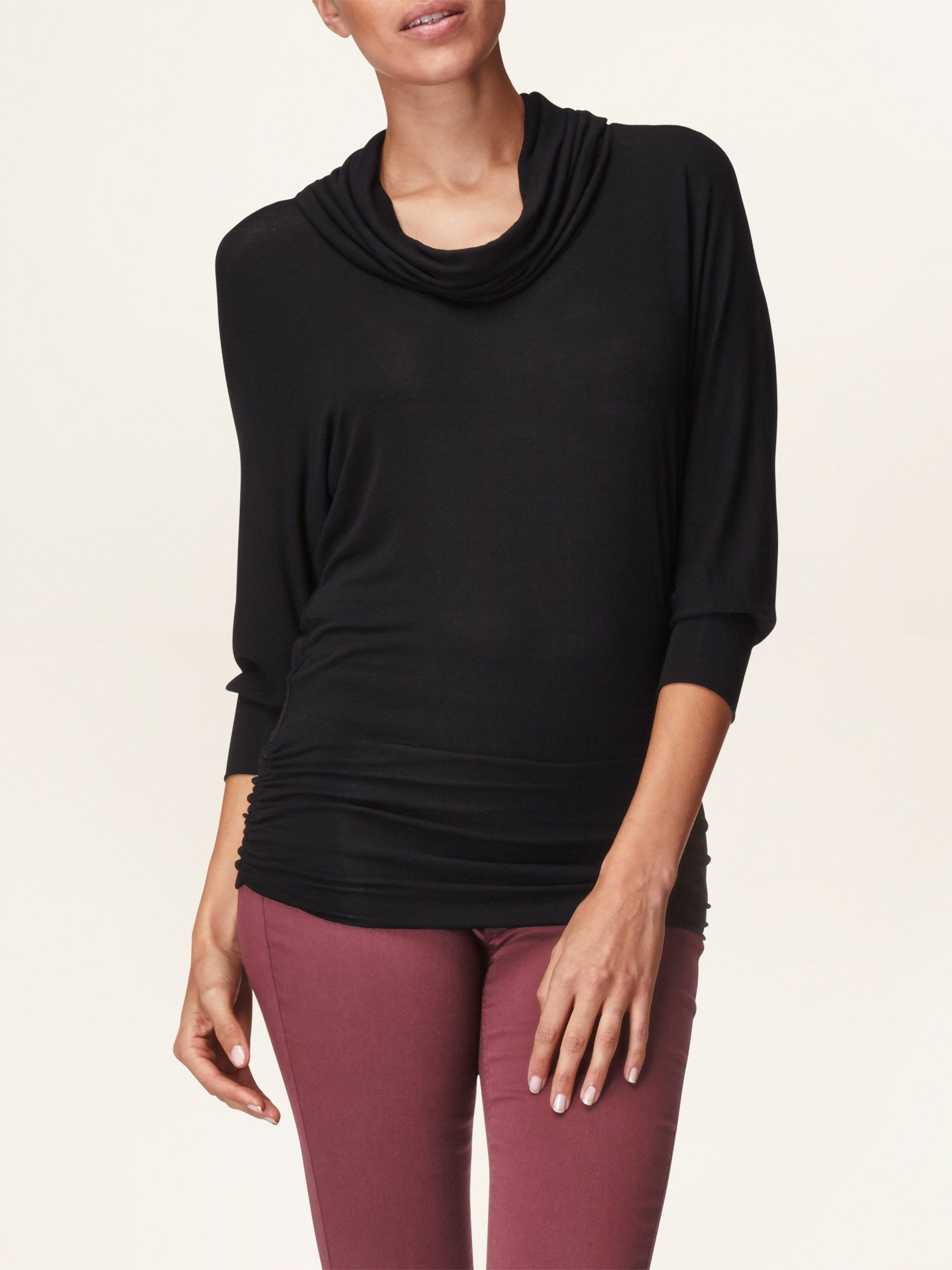 Drapey dana cowl neck top