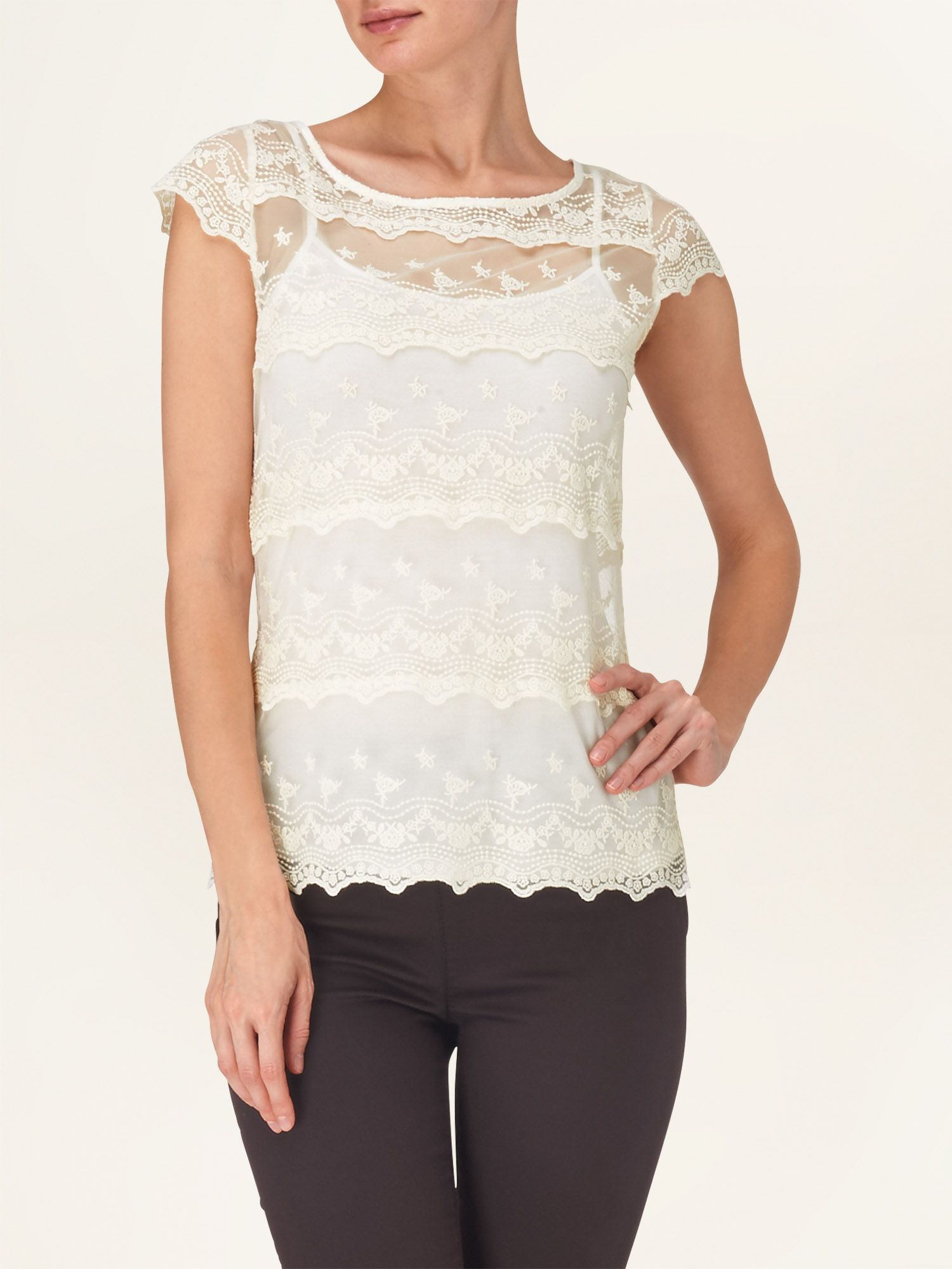 Maura tiered lace top