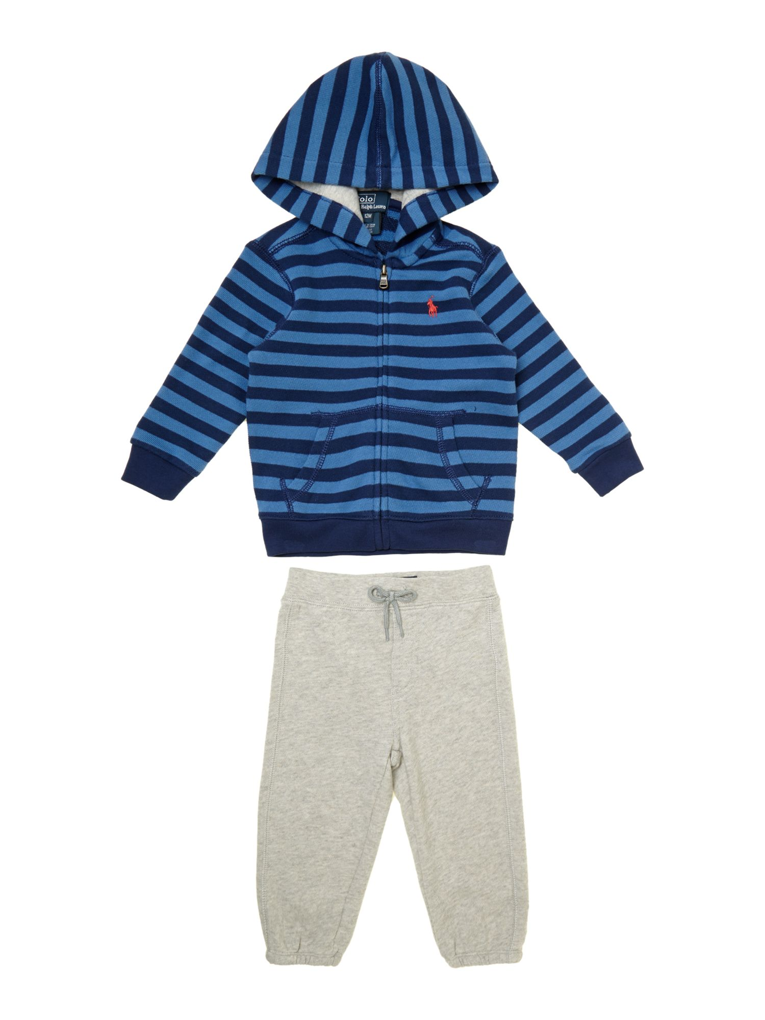 Boy`s stripe hoody and joggers set