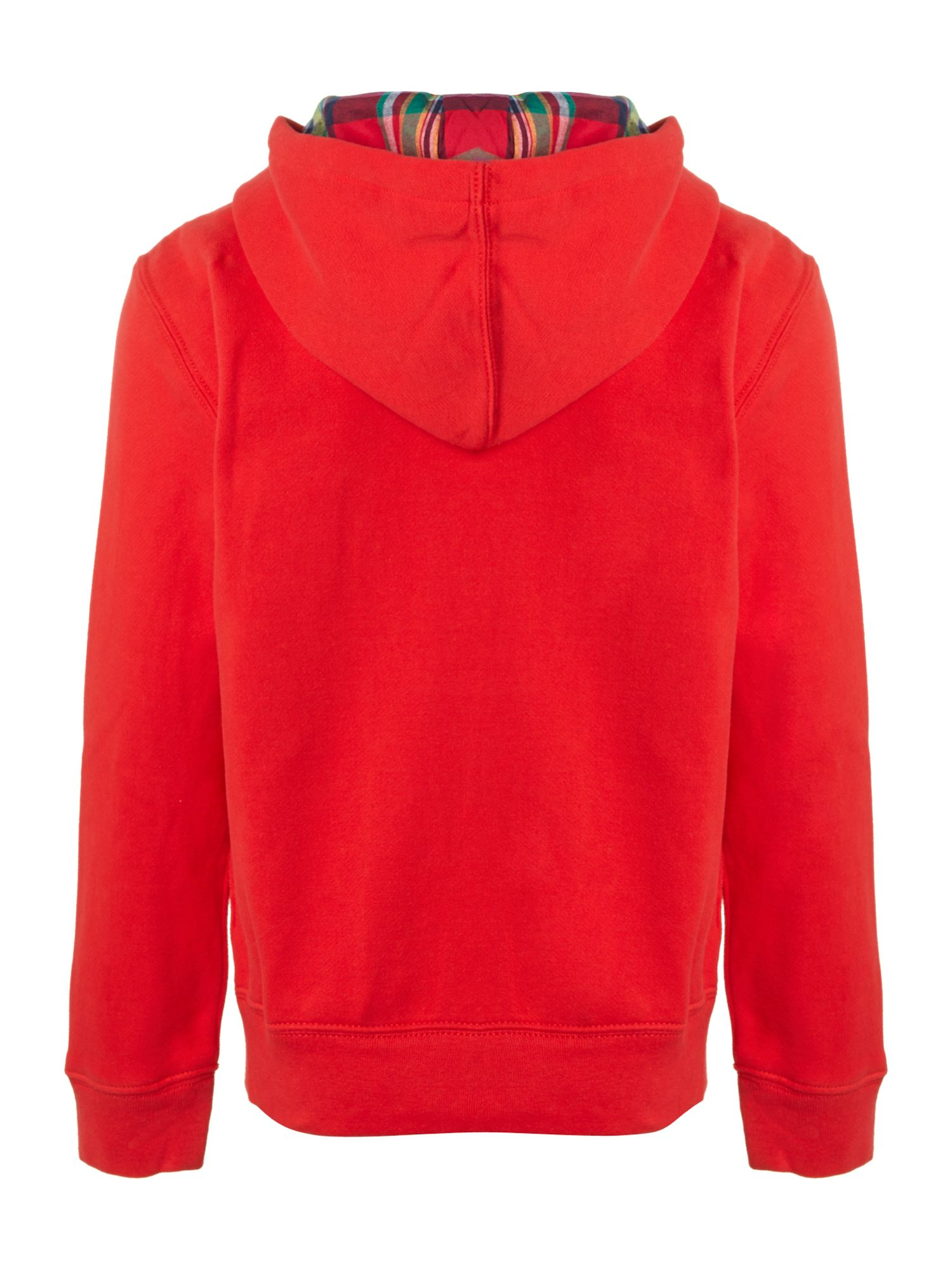 Boy`s bright zip through hoody