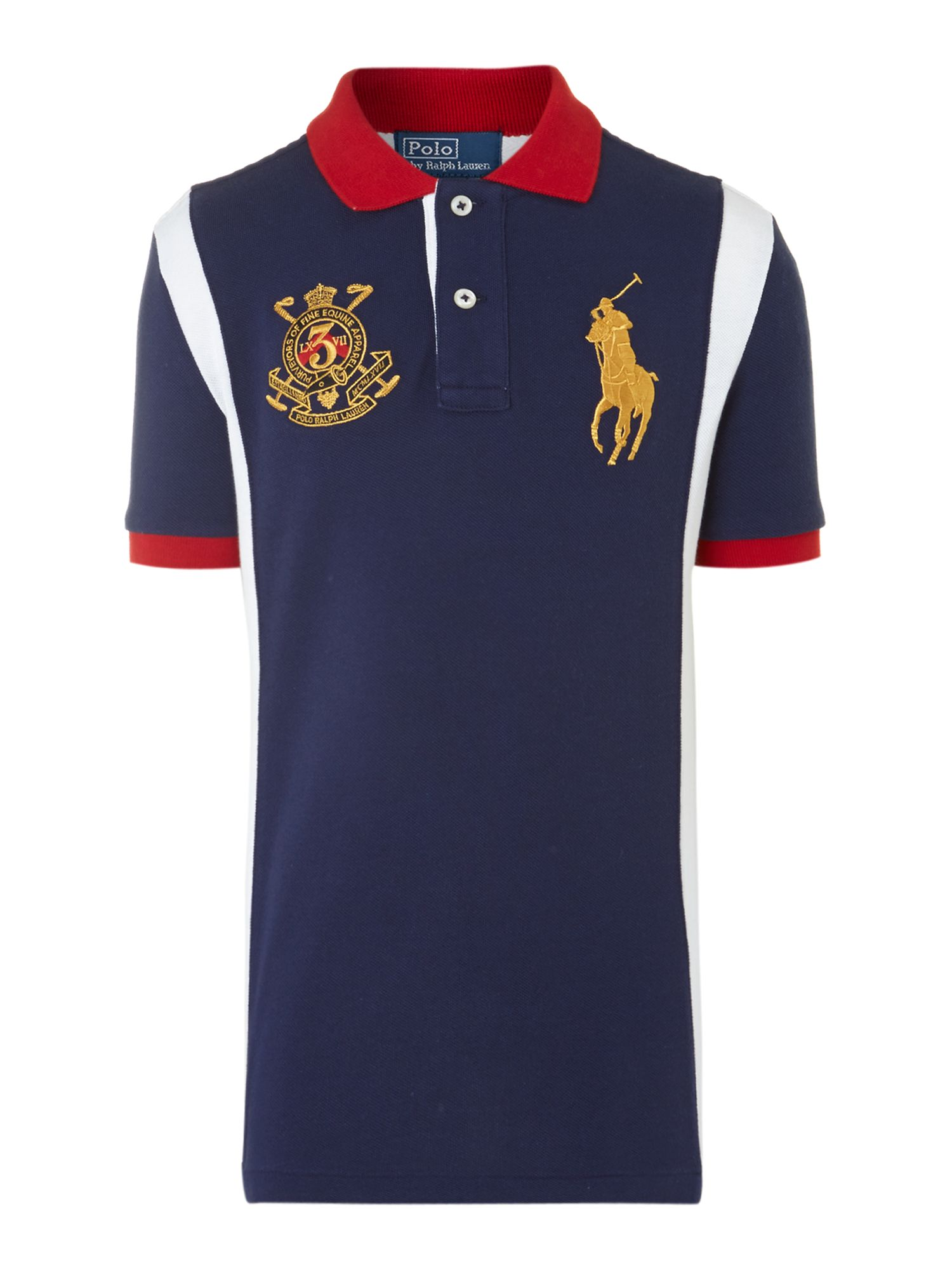 Boy`s contrast side polo