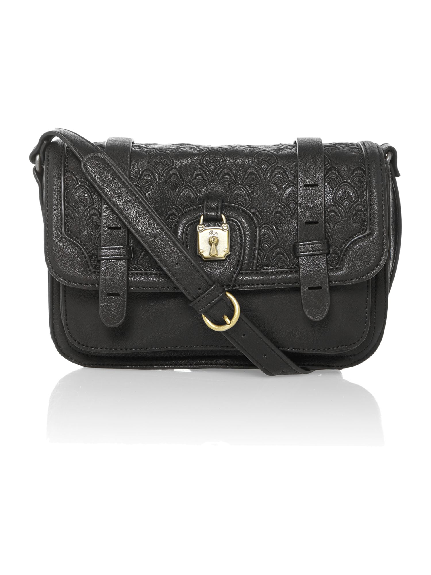 Bettina black small cross body bag