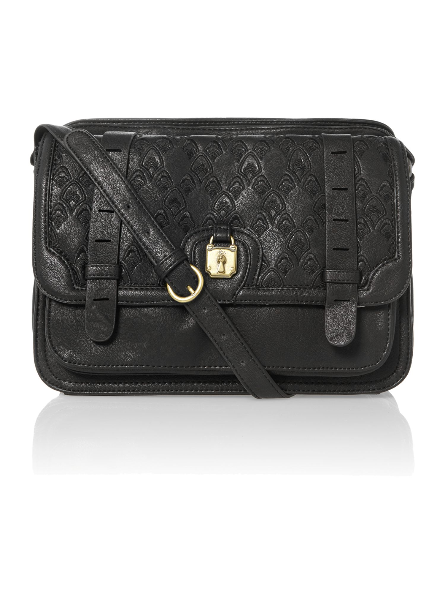 Bettina black large cross body bag