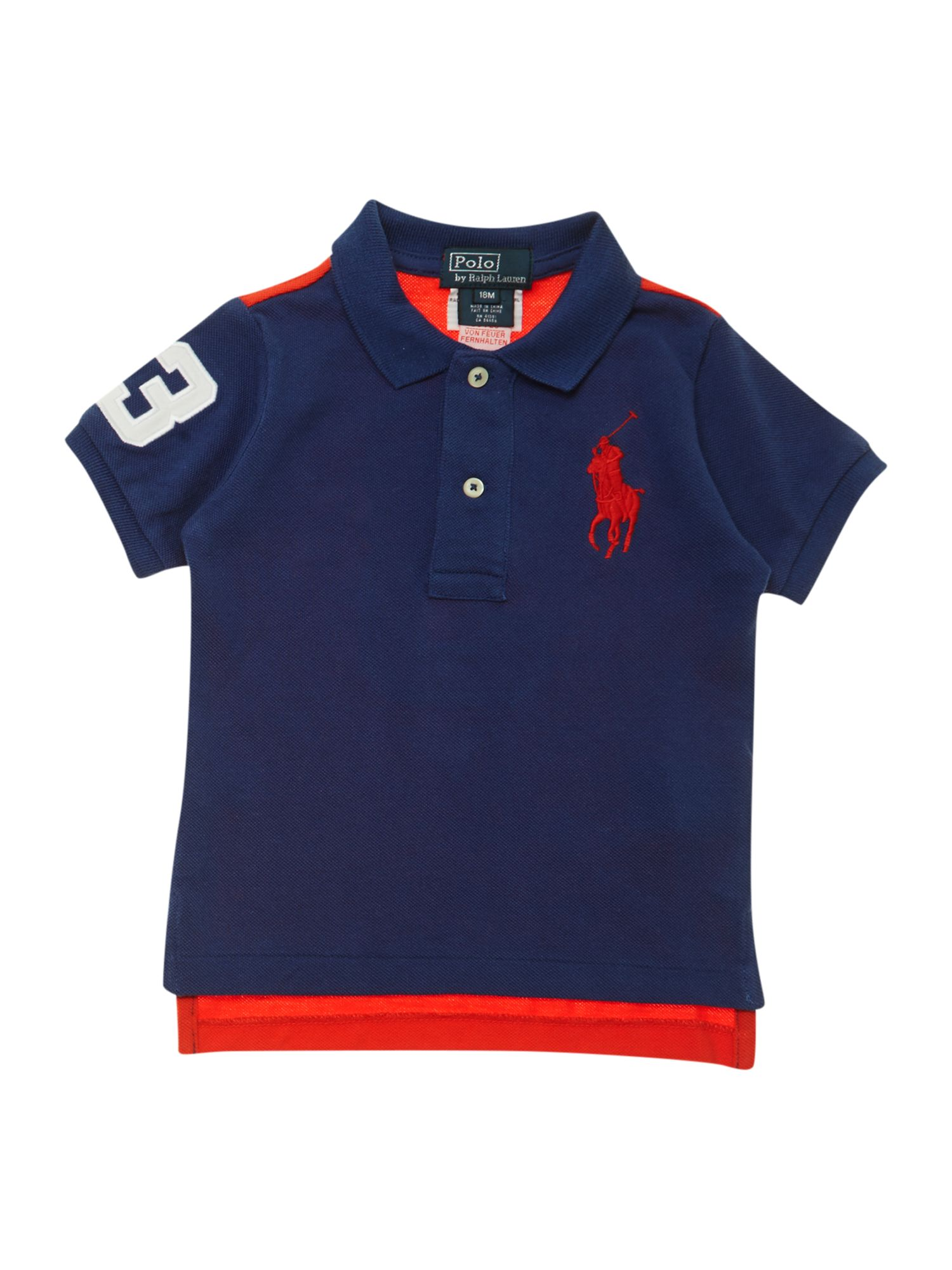 Boy`s contrast back polo