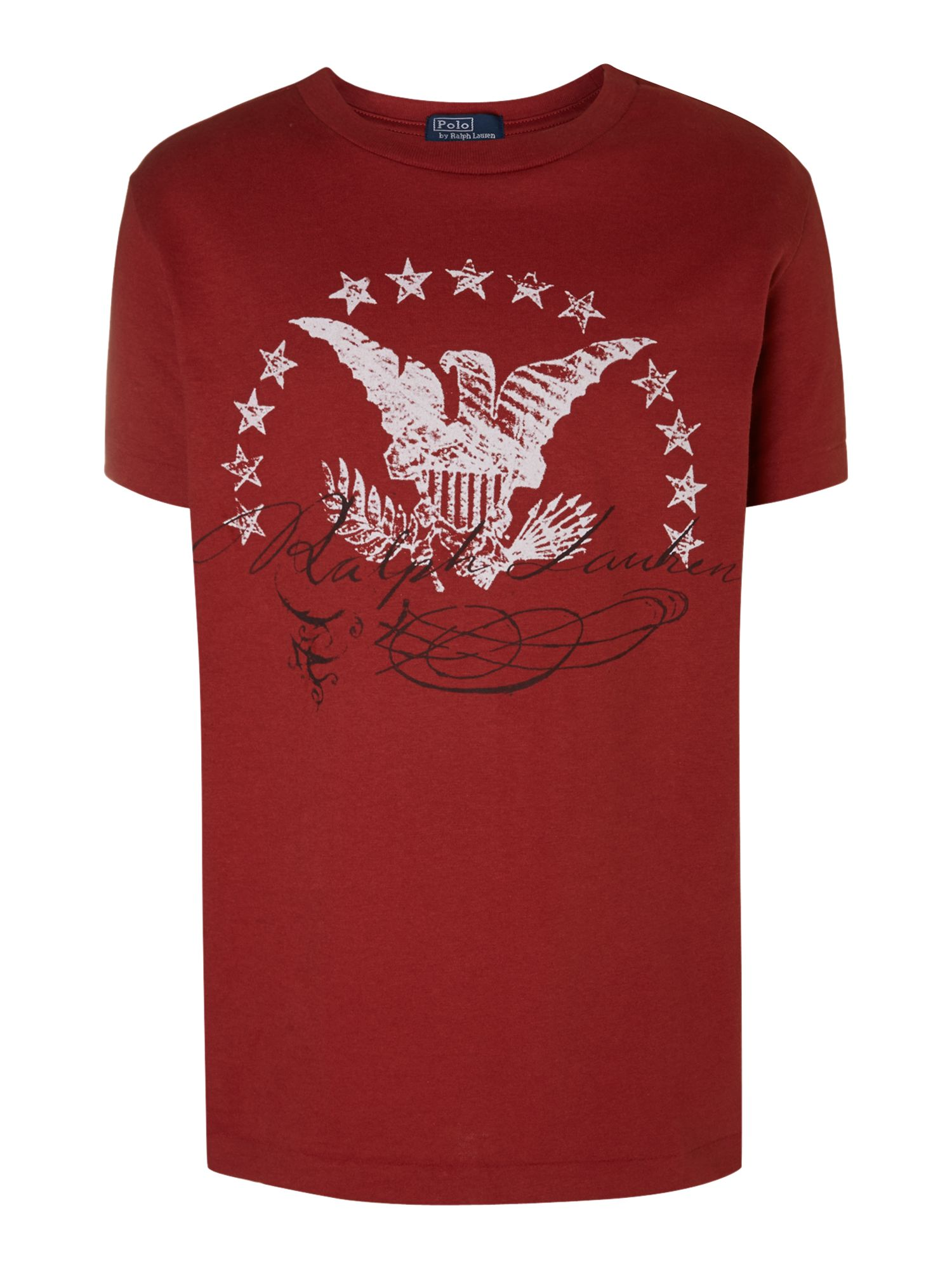 Boy`s eagle script t-shirt