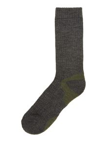 Wool blend walking sock