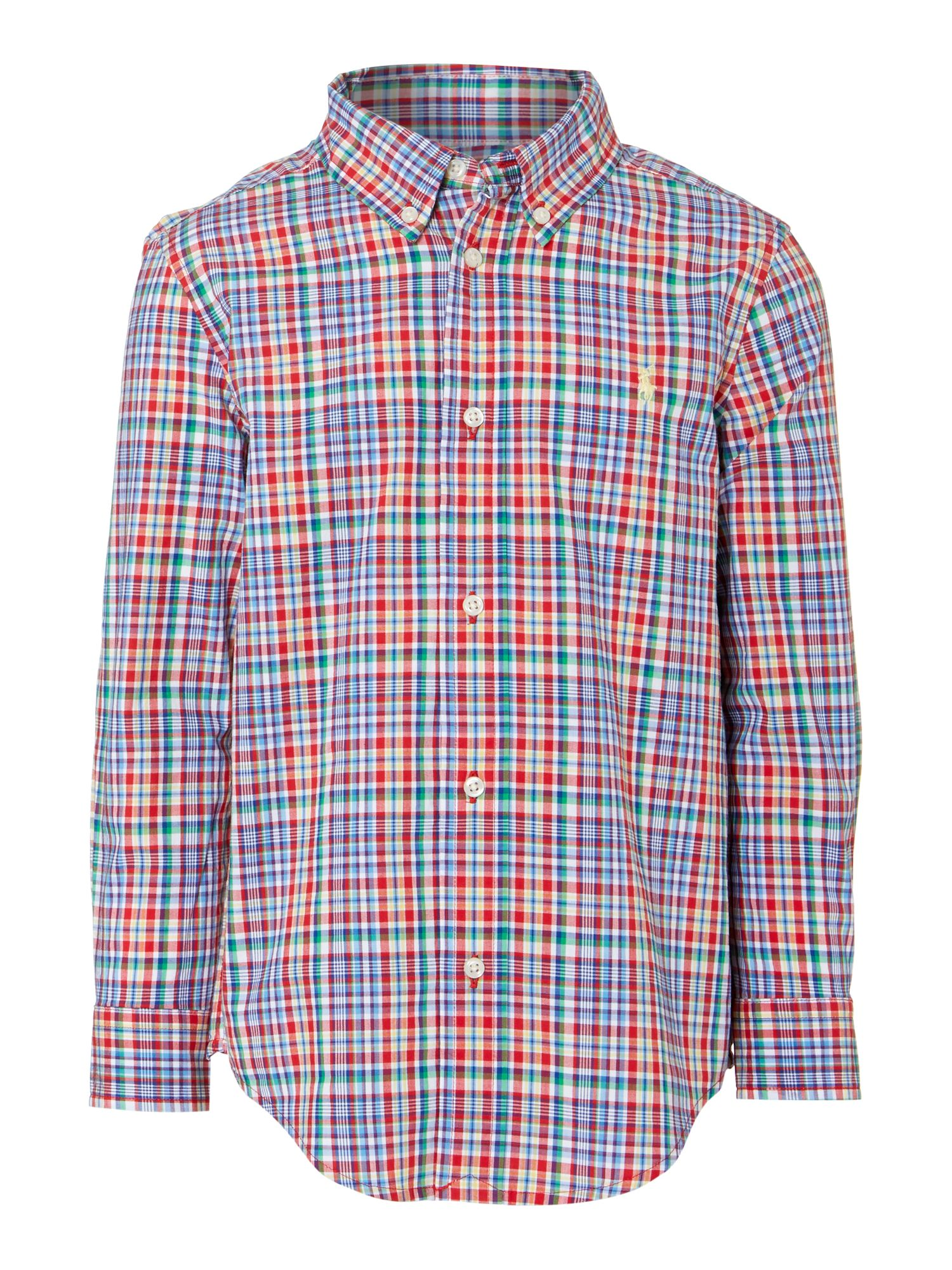 Boy`s multi-check shirt