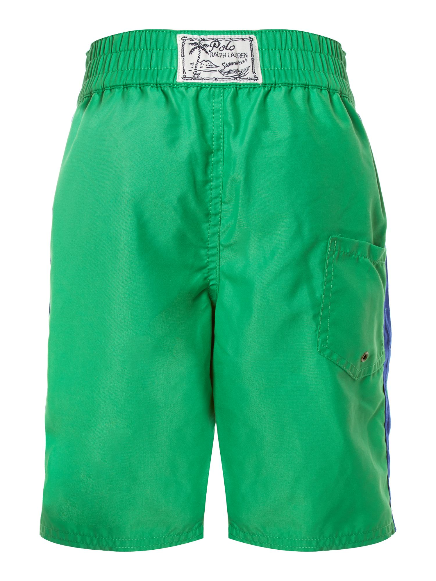 Boy`s contrast side swim short