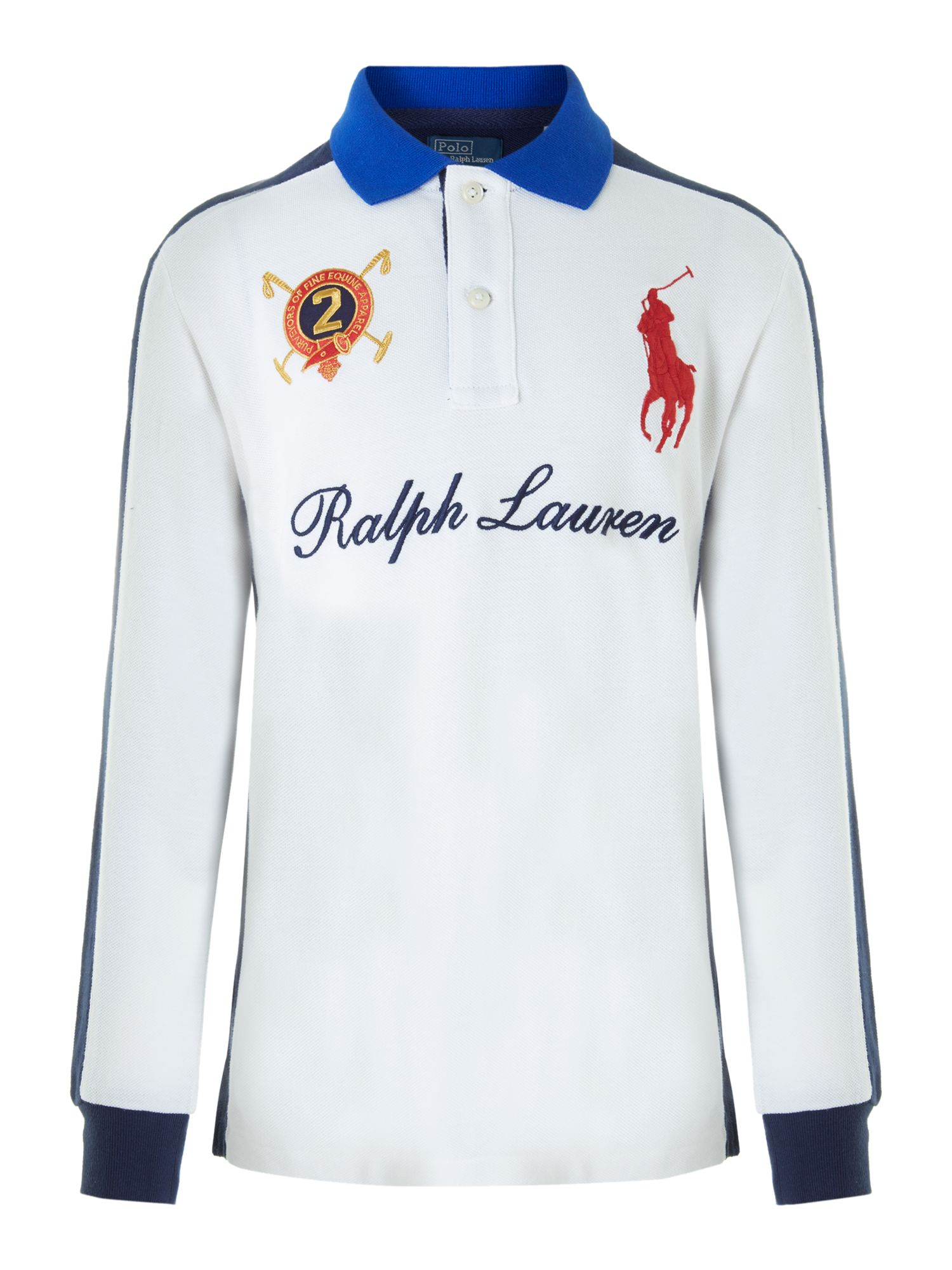 Boy`s large pony and graphic polo