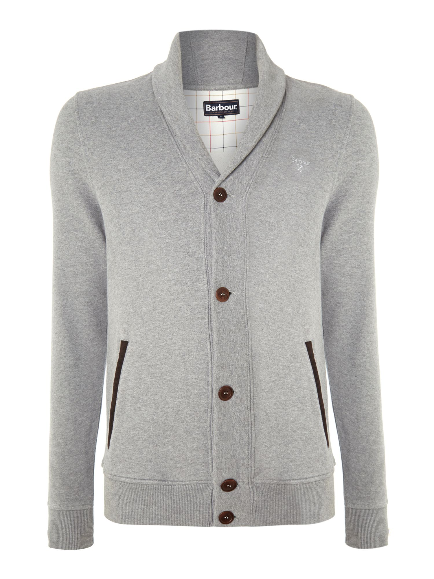 Lock shawl collar sweat cardigan