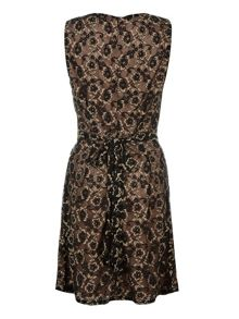 Lace cross over dress