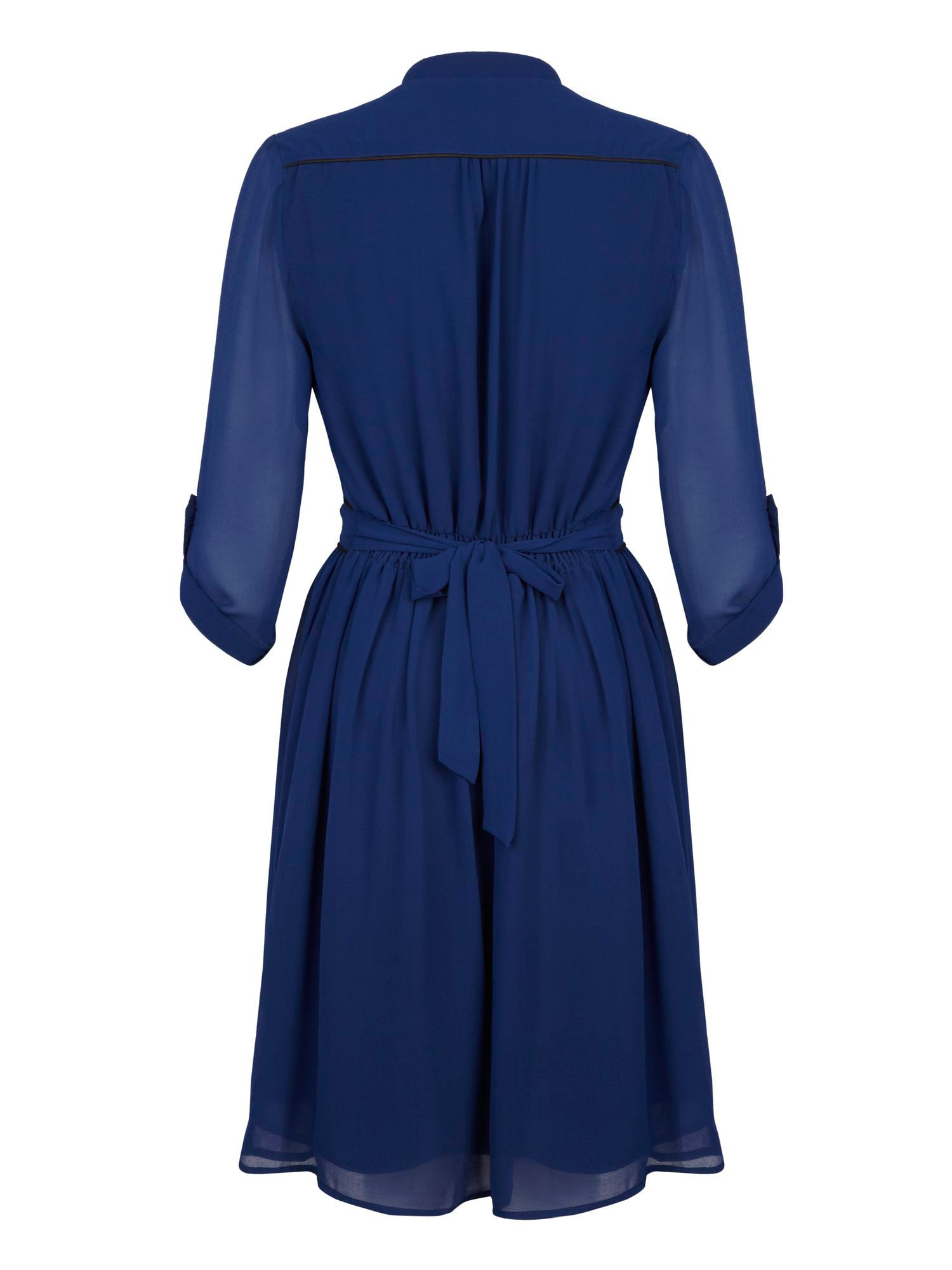 V-Neck Tie Waist Wrap Dress