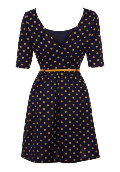Yumi Polka dot dress