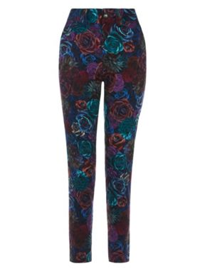 Yumi Floral Printed Trousers