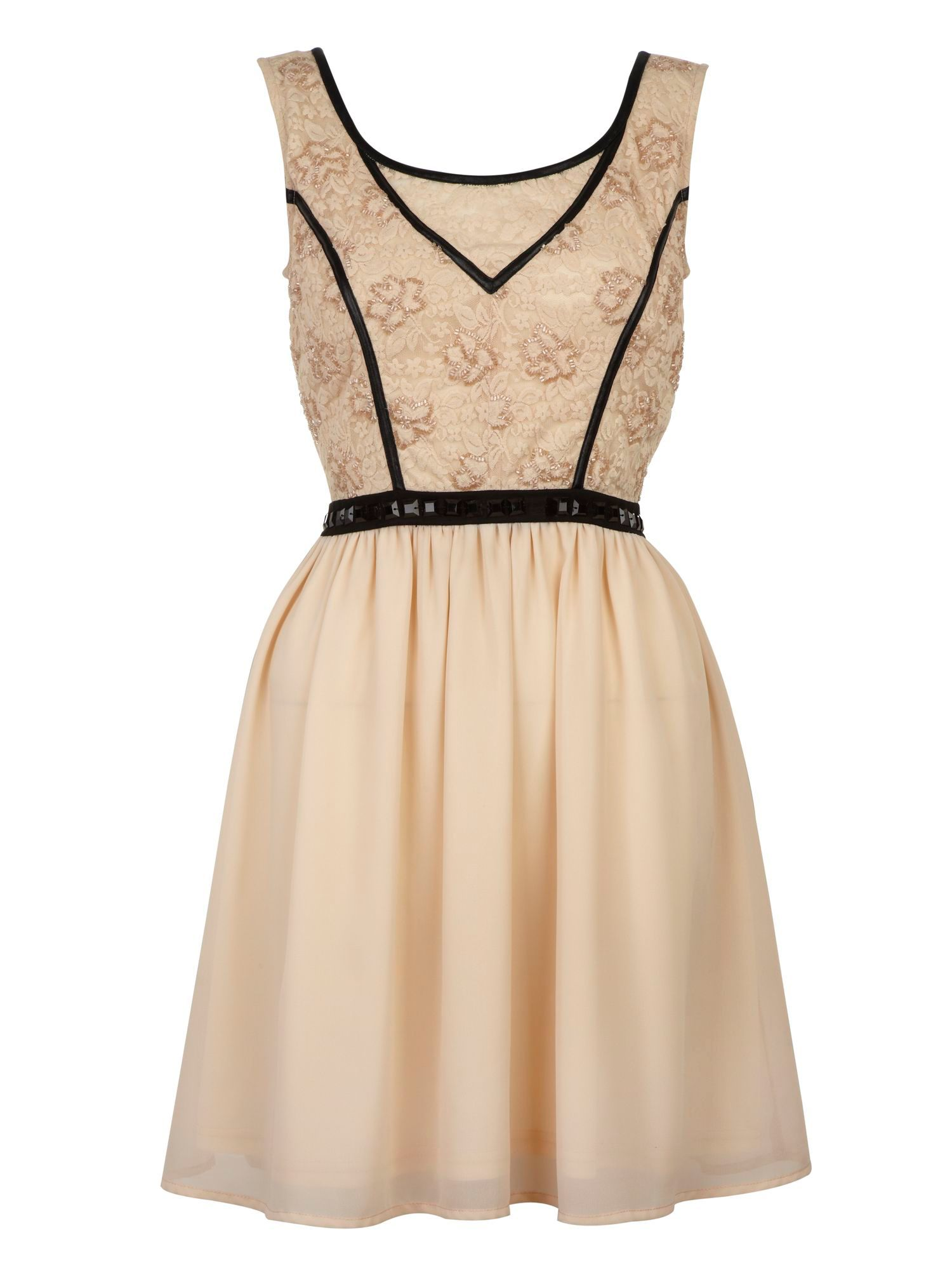 Lace detail dress