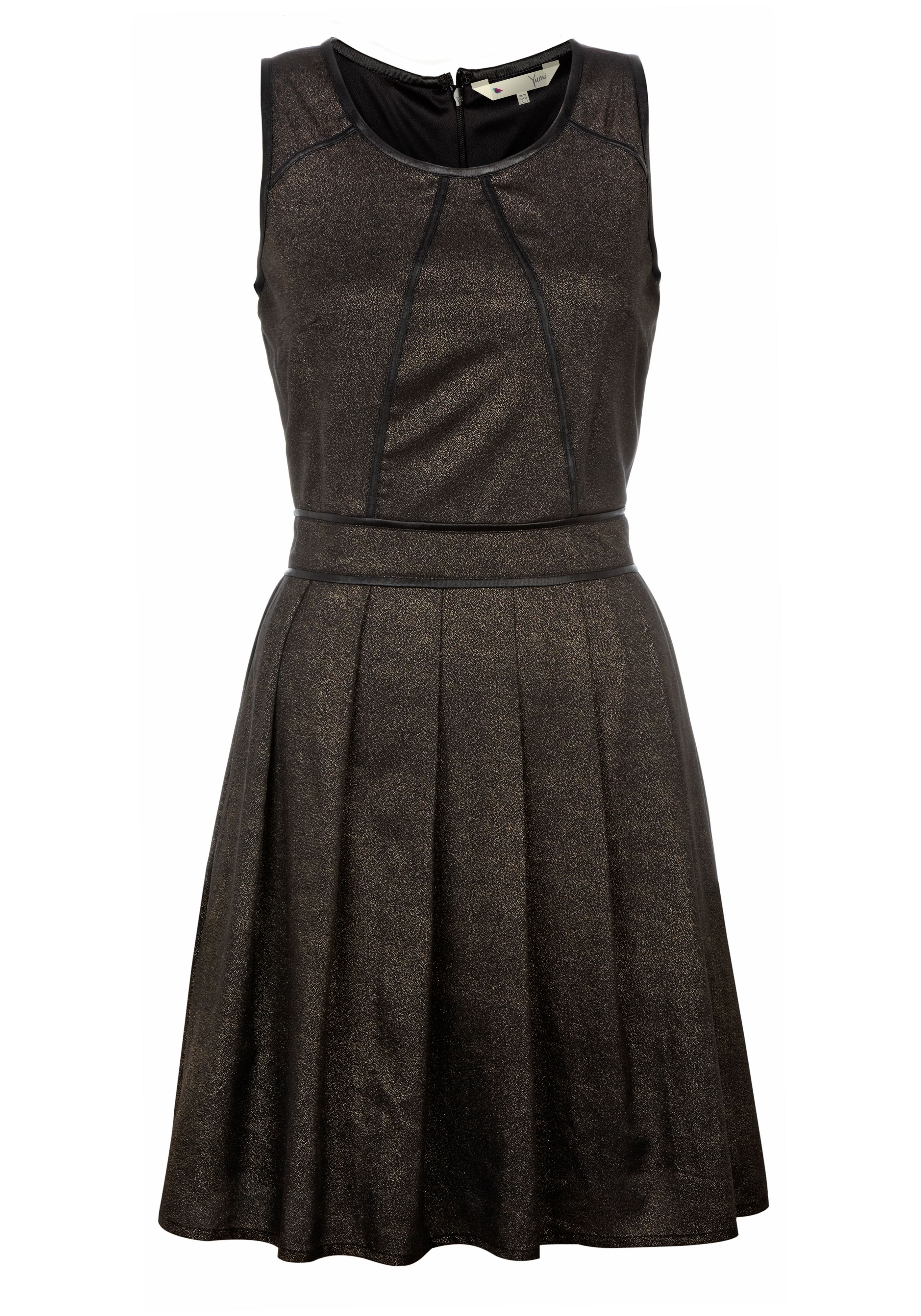 Metalic skater dress