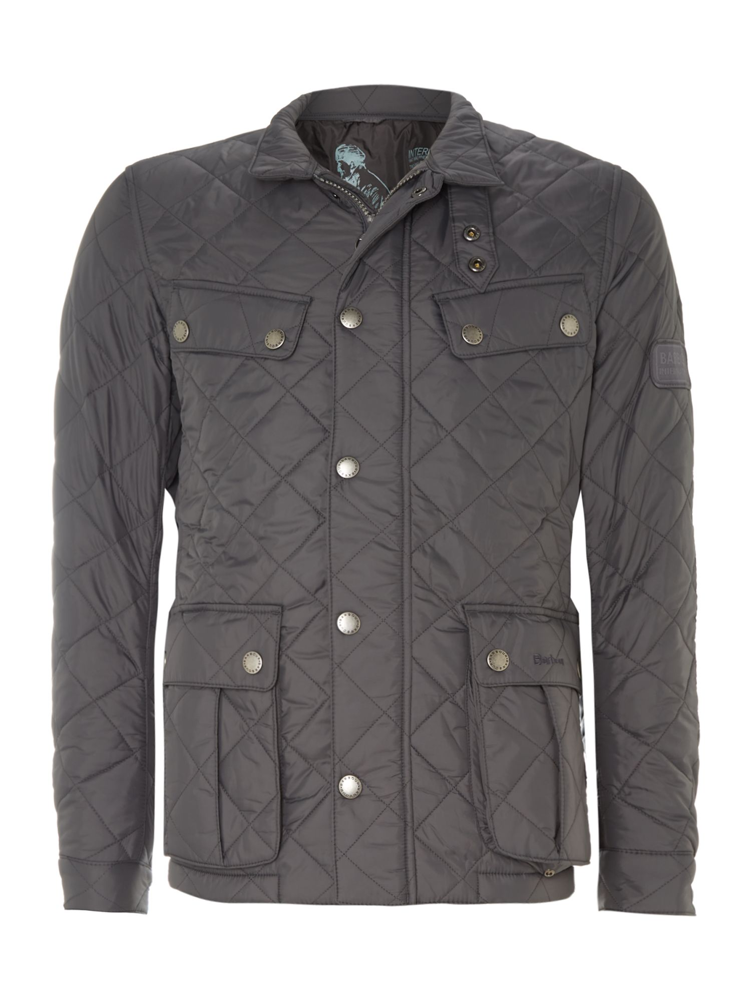 Mens Barbour Ariel Quilted Jacket Charcoal