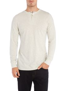 Long sleeve renound henley t-shirt