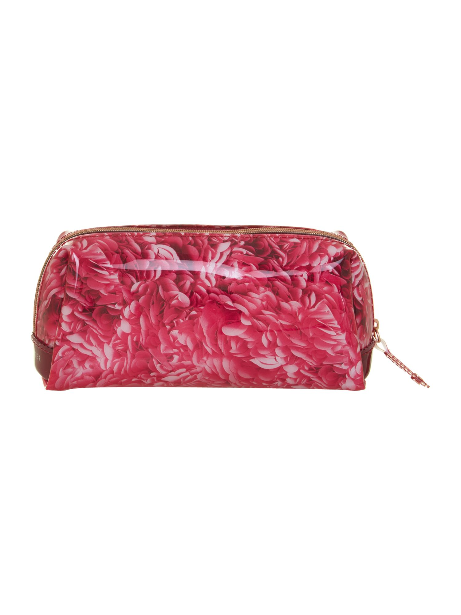 Small rosette print wash bag