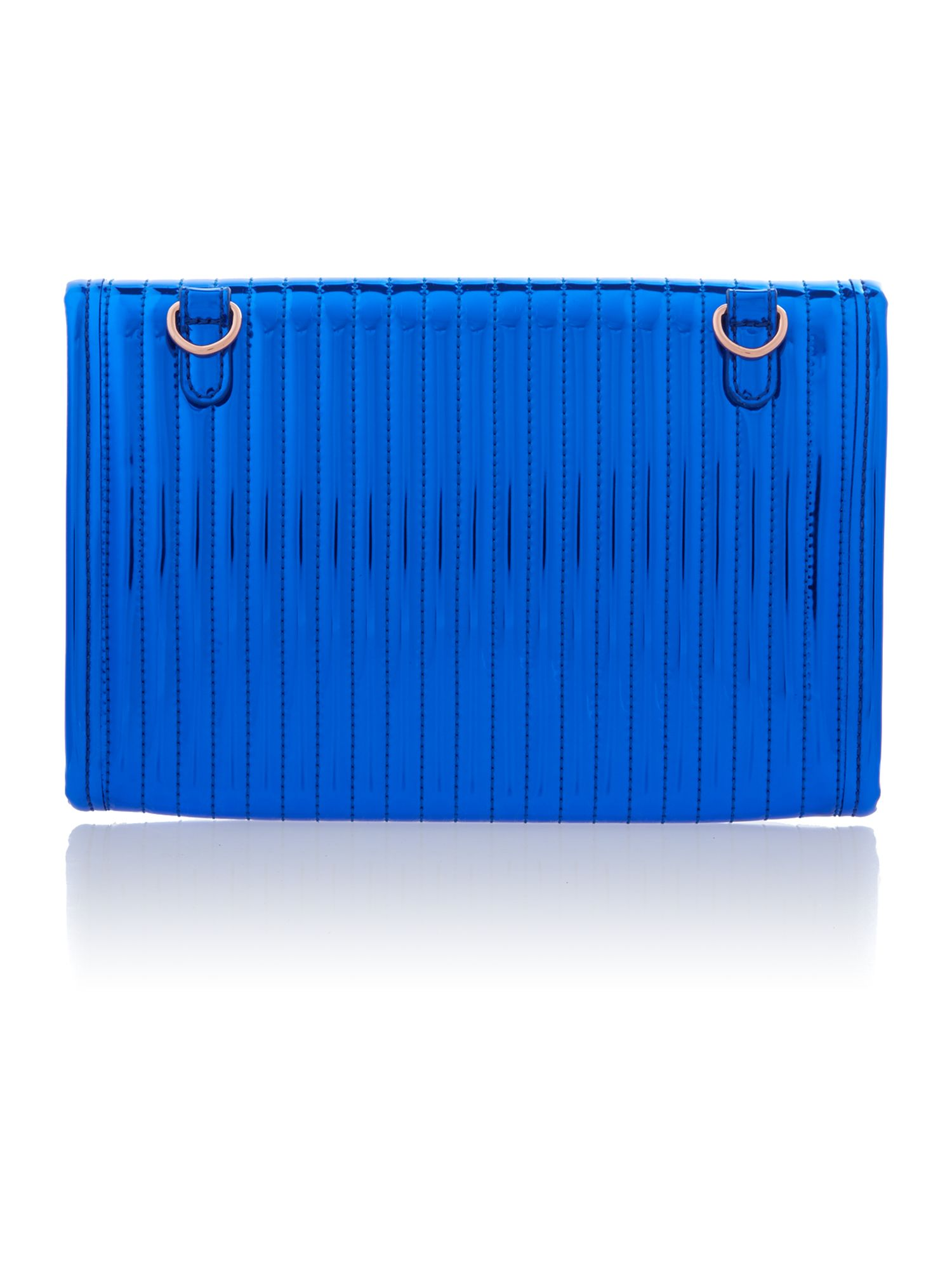 Mini blue metal bow tablet case