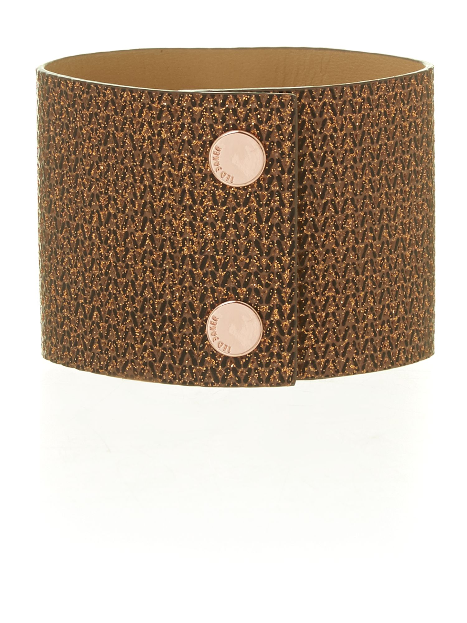 Tan gem leather cuff