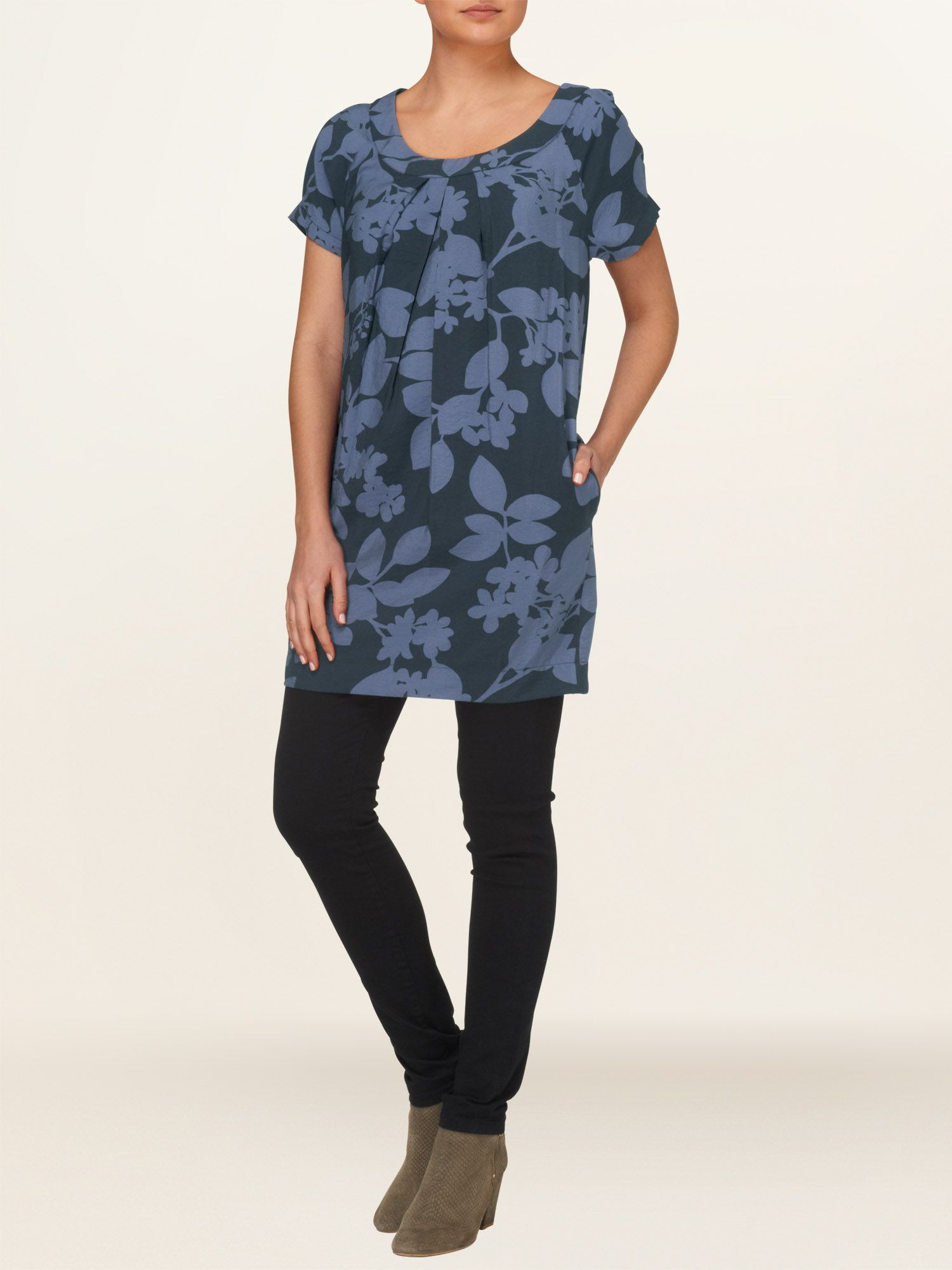 Etta leaf shadow tunic