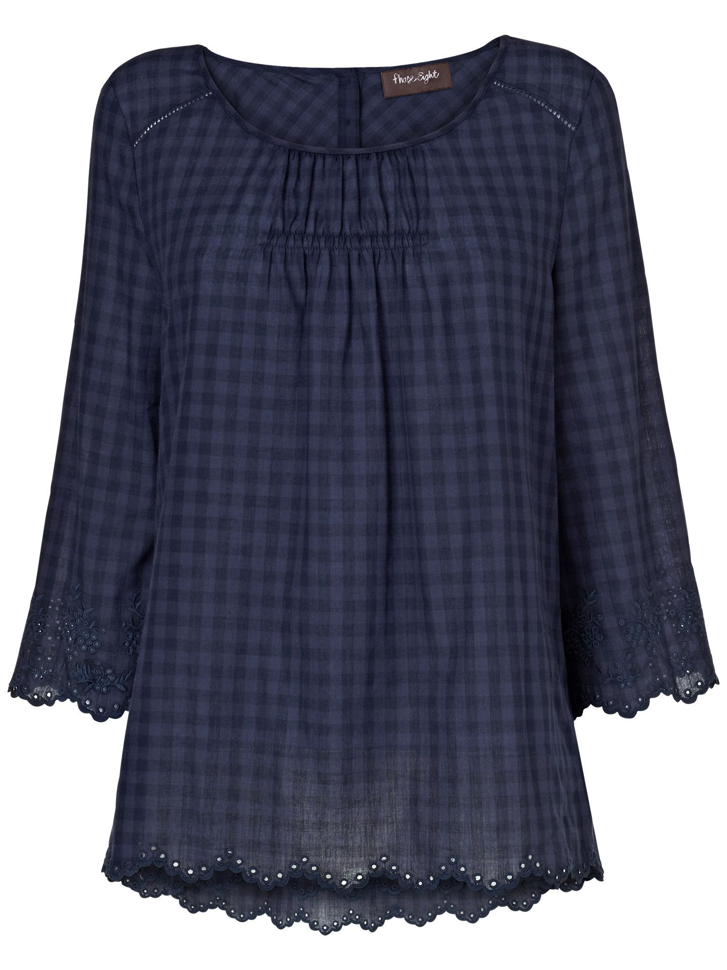 Edie gingham blouse